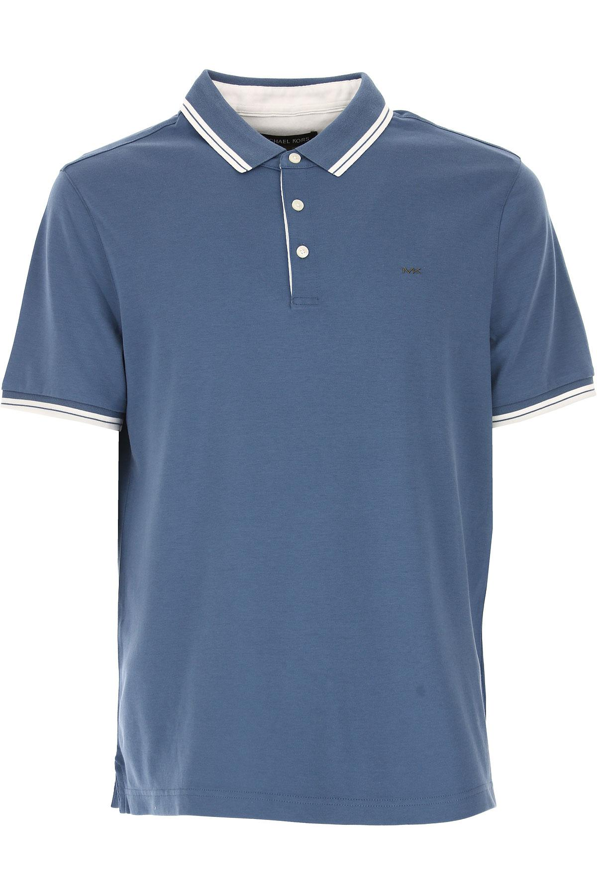 Lyst Michael Kors Polo Shirt For Men On Sale In Outlet In Blue For