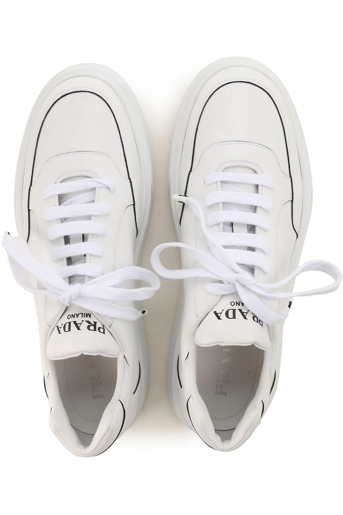 Zapatillas Deportivas de Hombre Prada de hombre de color Blanco