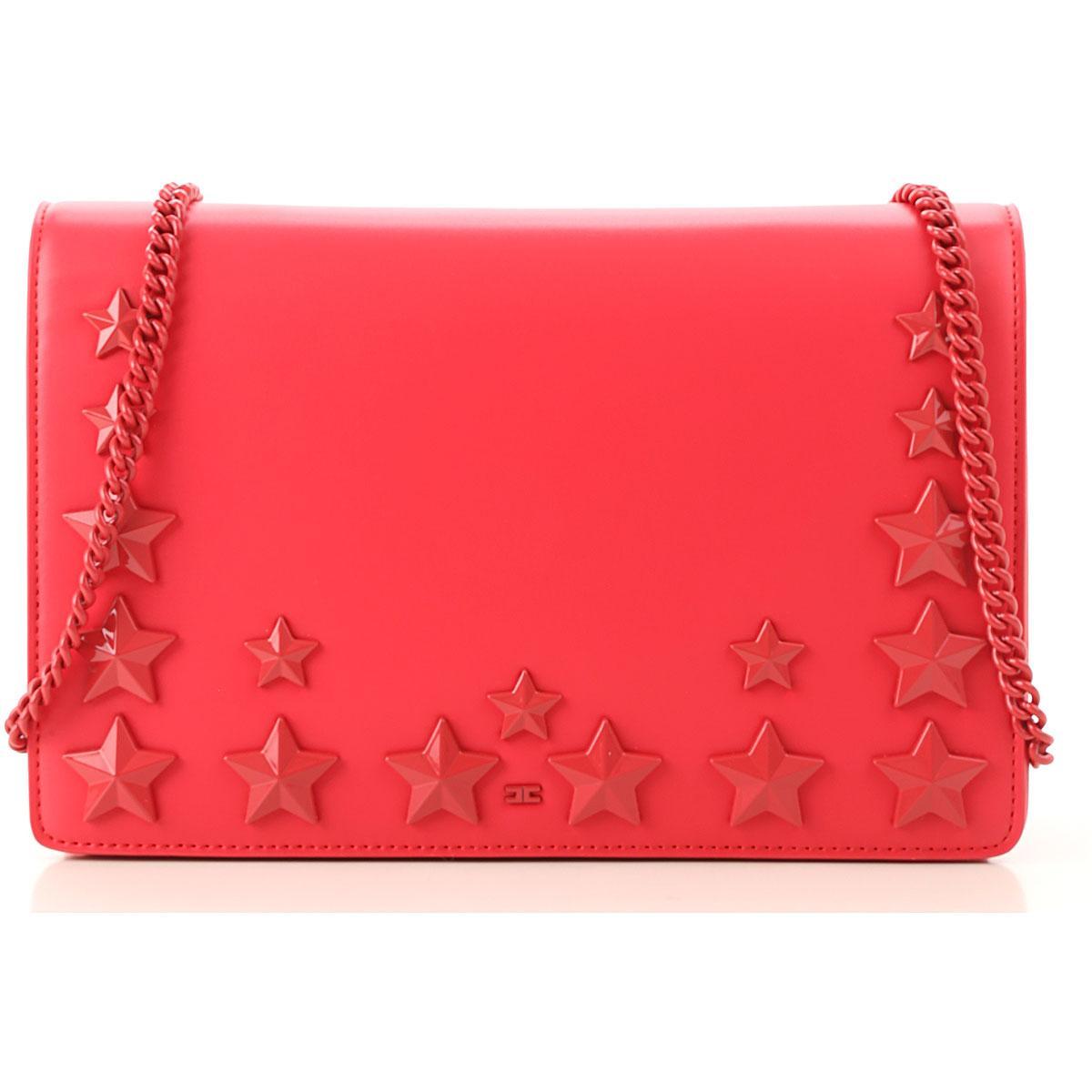 d559eafe8e44 Lyst - Elisabetta Franchi Shoulder Bag For Women in Red