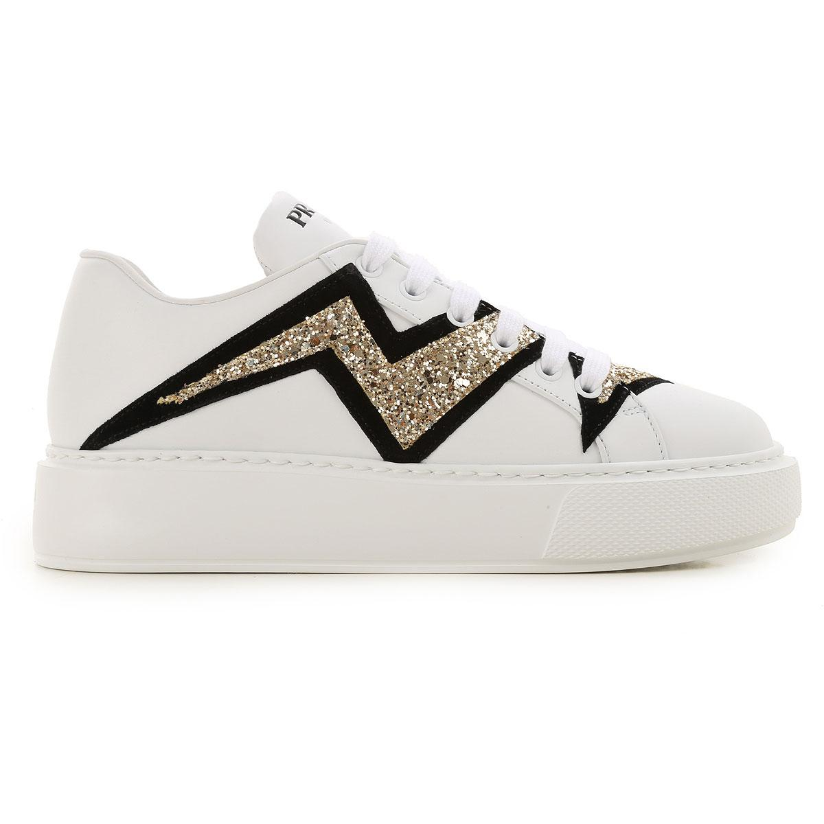 Zapatillas Deportivas de Mujer Prada de Encaje de color Blanco