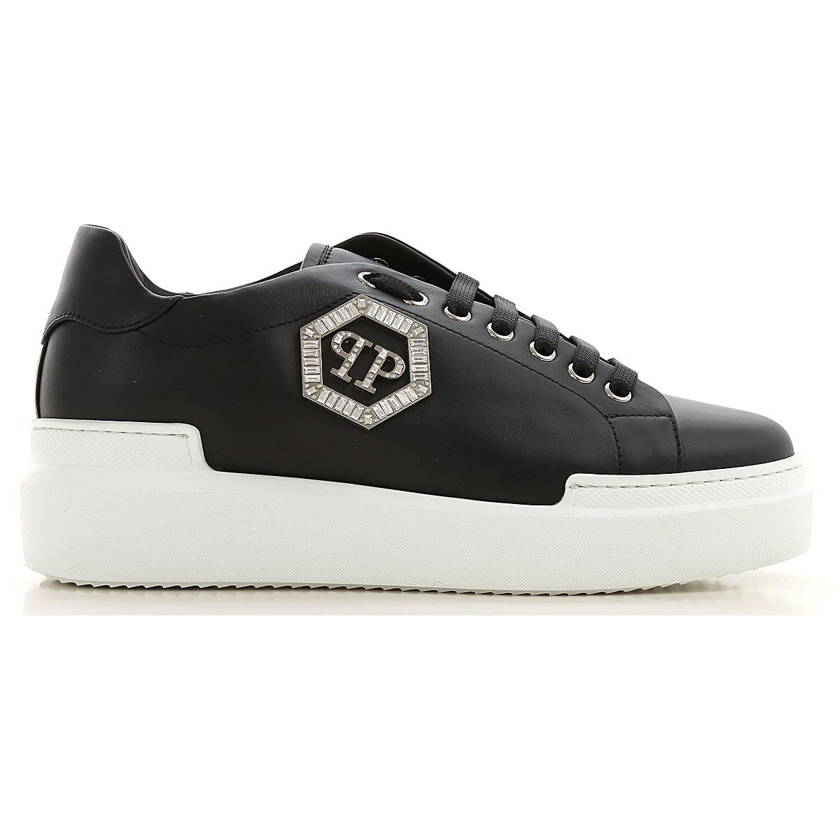 Zapatillas Deportivas de Mujer Philipp Plein de Encaje de color Negro