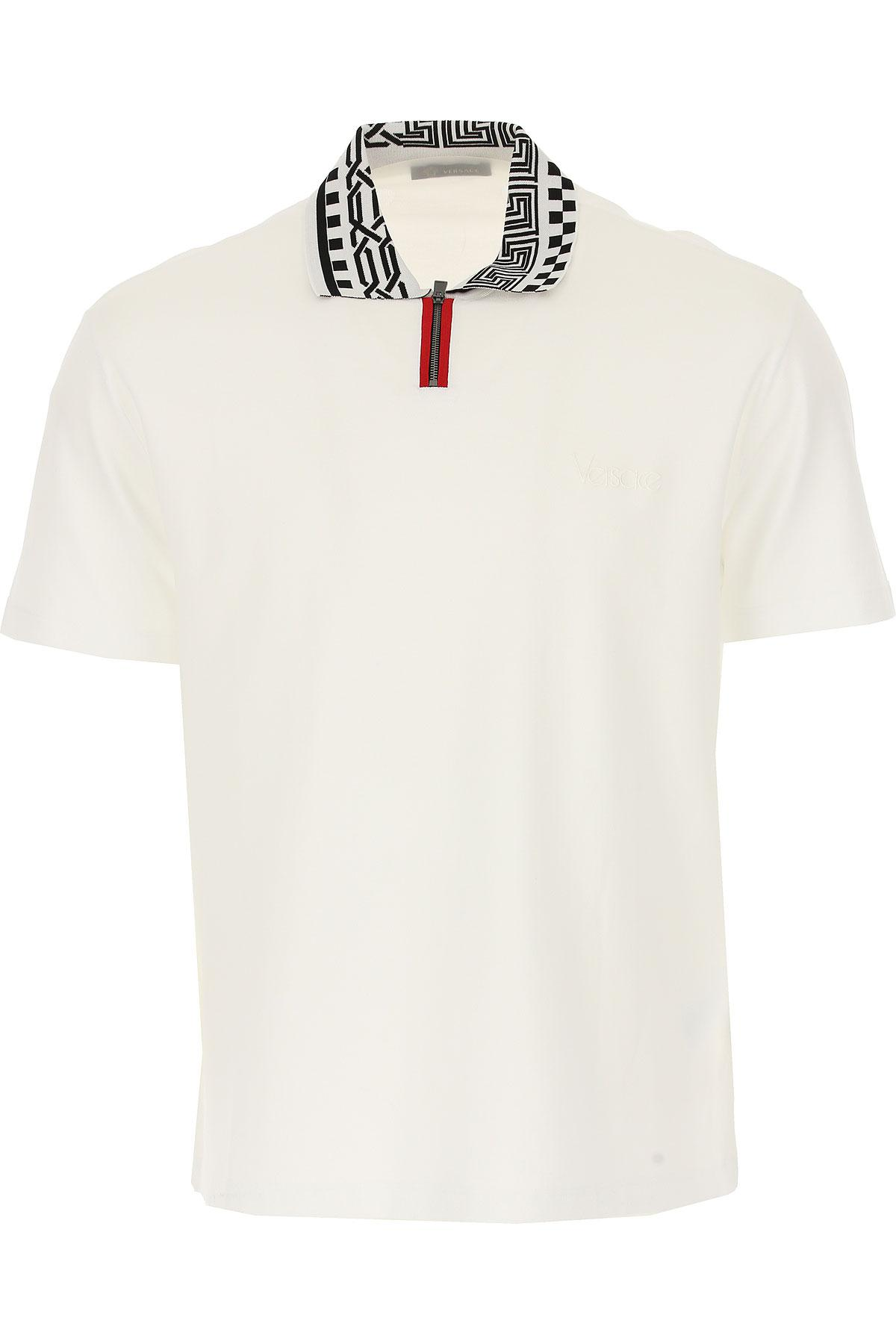 Lyst - Polo Homme Pas cher en Soldes Versace pour homme en coloris Blanc ae3f66dea2f