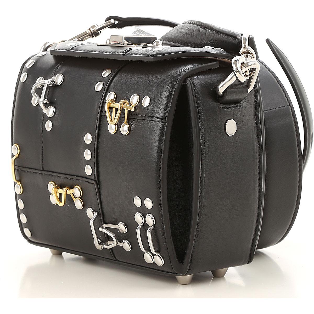 Michael Kors Black leather chain strap shoulder bag