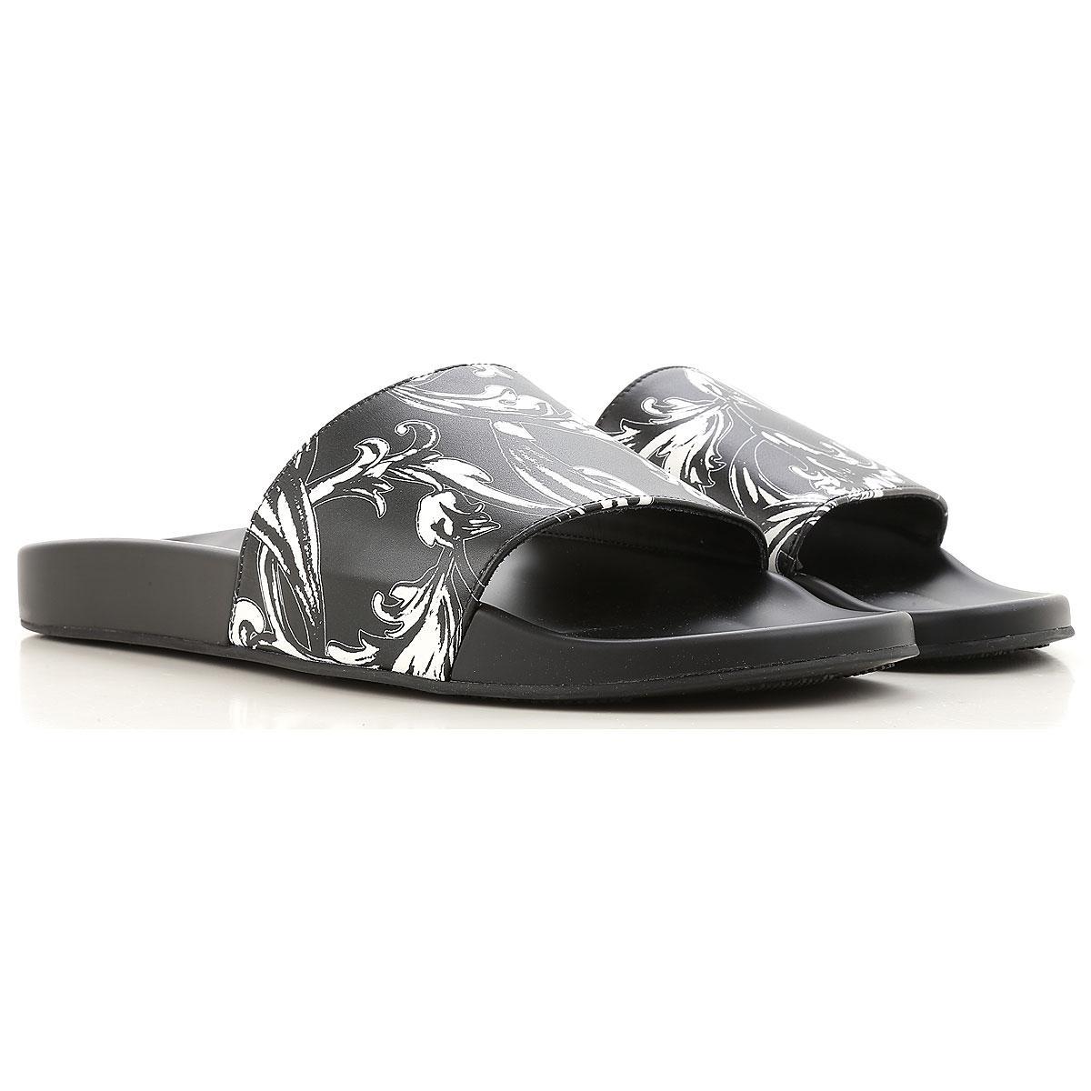Lyst - Sandale Homme Versace pour homme en coloris Noir 4a7edcc10dd