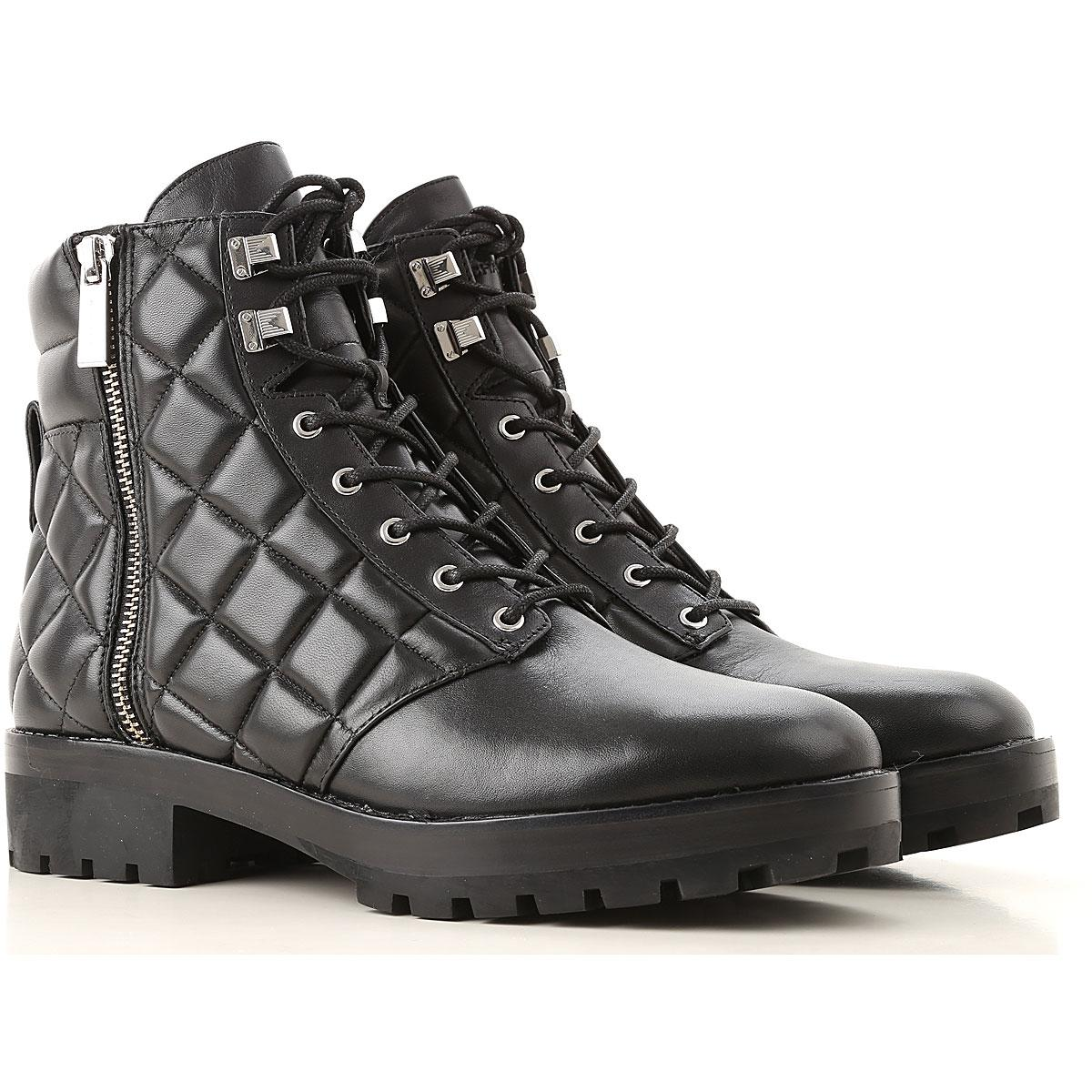 e1e8bc15920 Michael Kors Rosario Leather Combat Boot in Black - Save 59% - Lyst