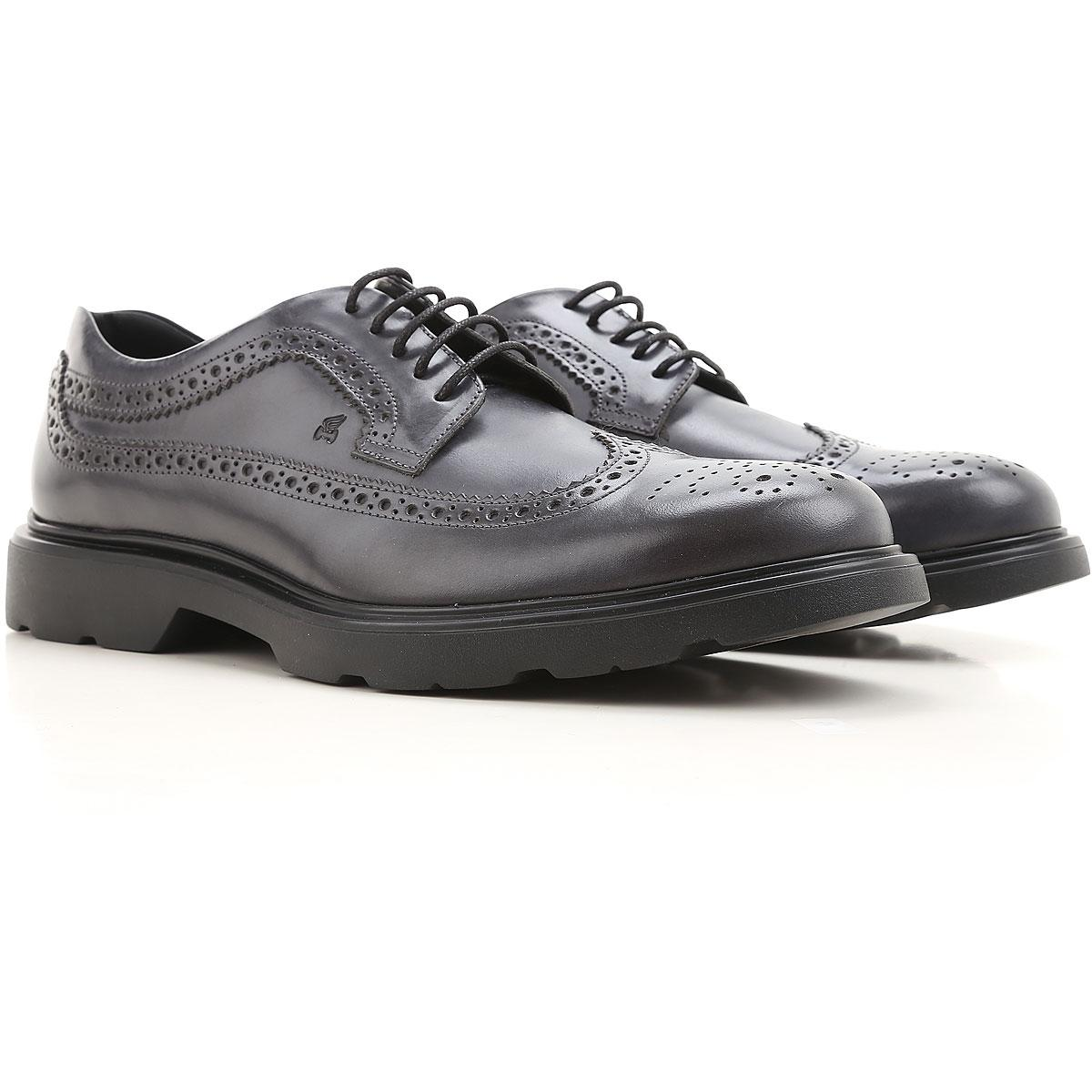 Lace Up Shoes for Men Oxfords, Derbies and Brogues On Sale, Dark Night Blue, Leather, 2017, 8 Hogan