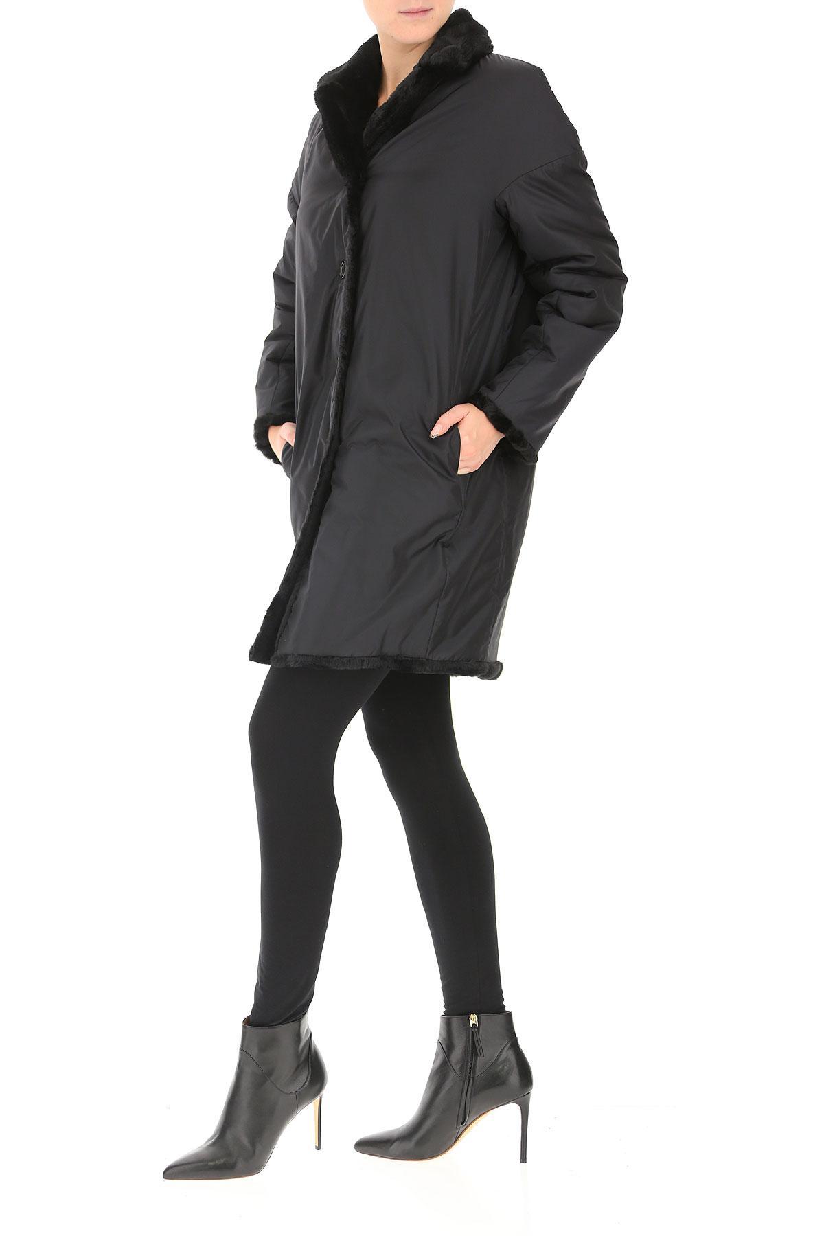 Manteau Femme Synthétique Aspesi en coloris Noir 6quNg