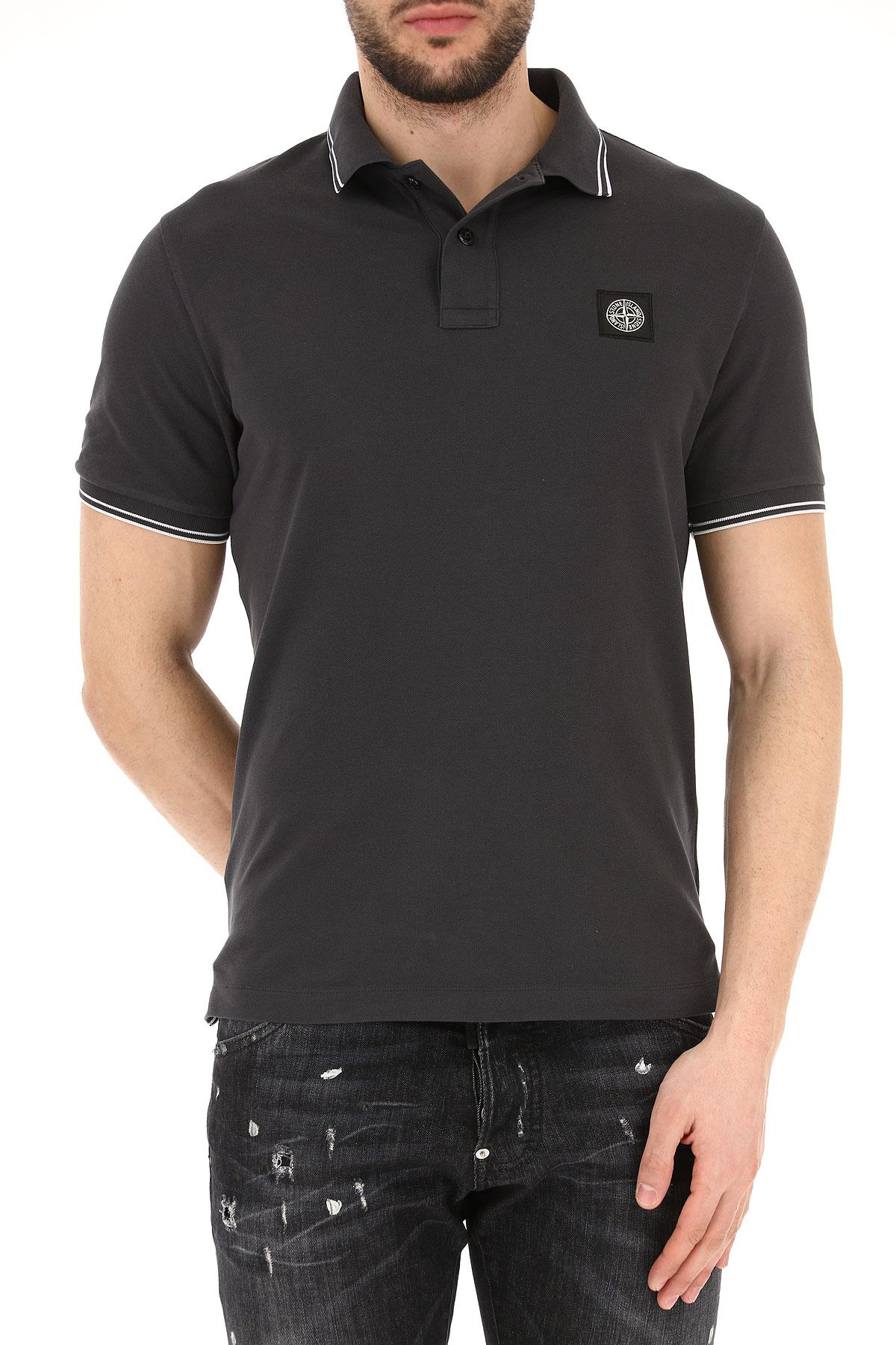 Lyst Stone Island Polo Shirt For Men On Sale In Gray For Men
