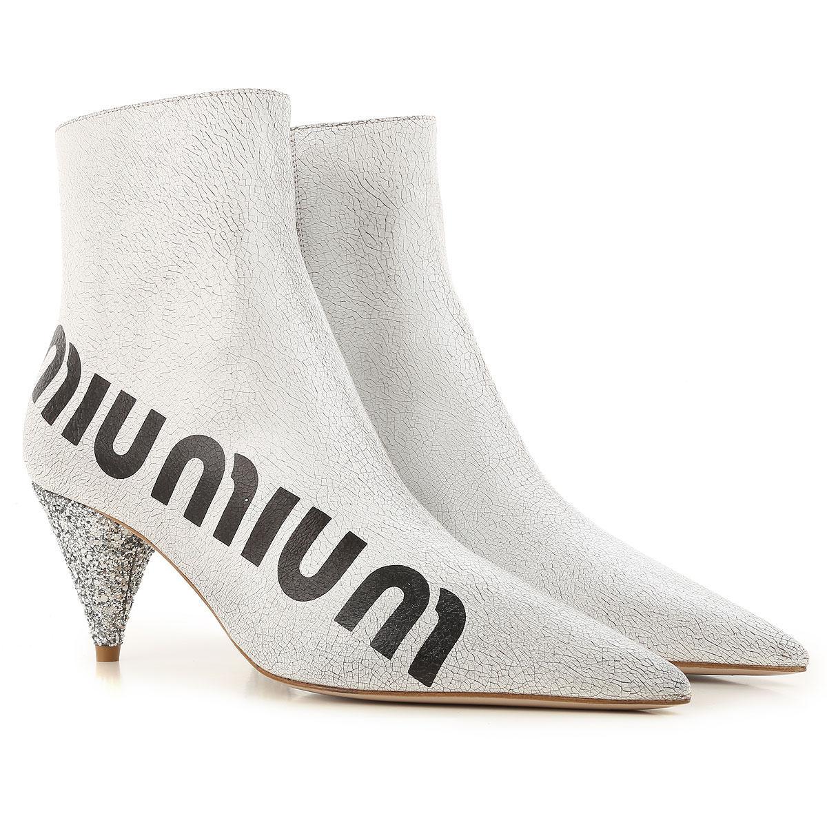 Miu Miu Boots For Women in White - Lyst