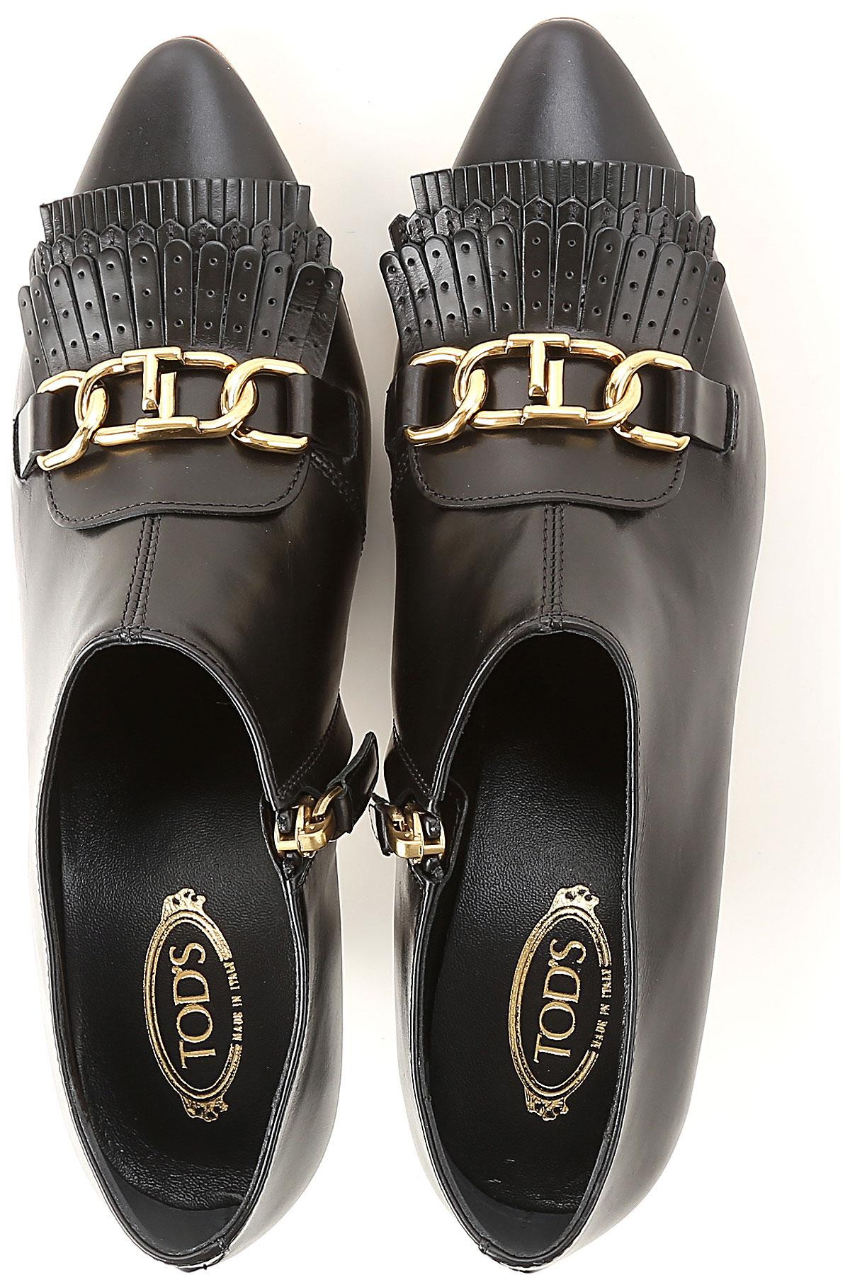 Tod's Leather Boots For Women in Black