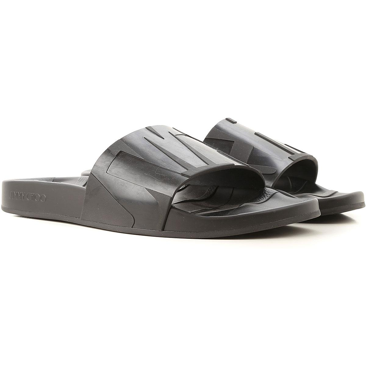 98e475a355b5 Jimmy Choo - Black Sandals For Men On Sale In Outlet for Men - Lyst. View  fullscreen