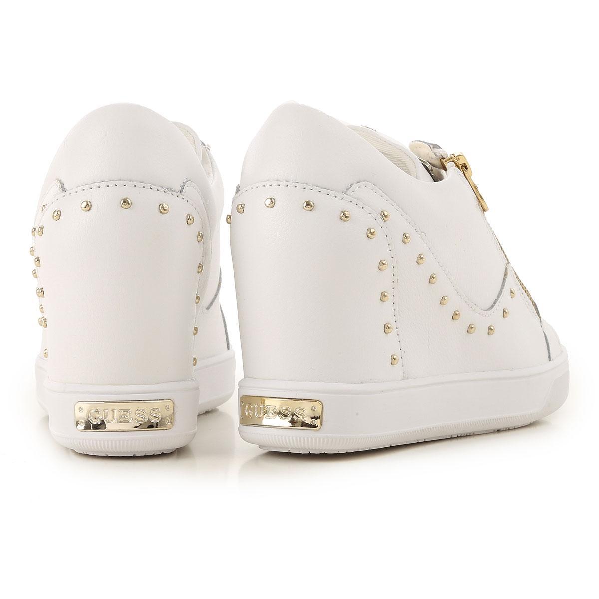 Zapatillas Deportivas de Mujer Guess de Encaje de color Blanco