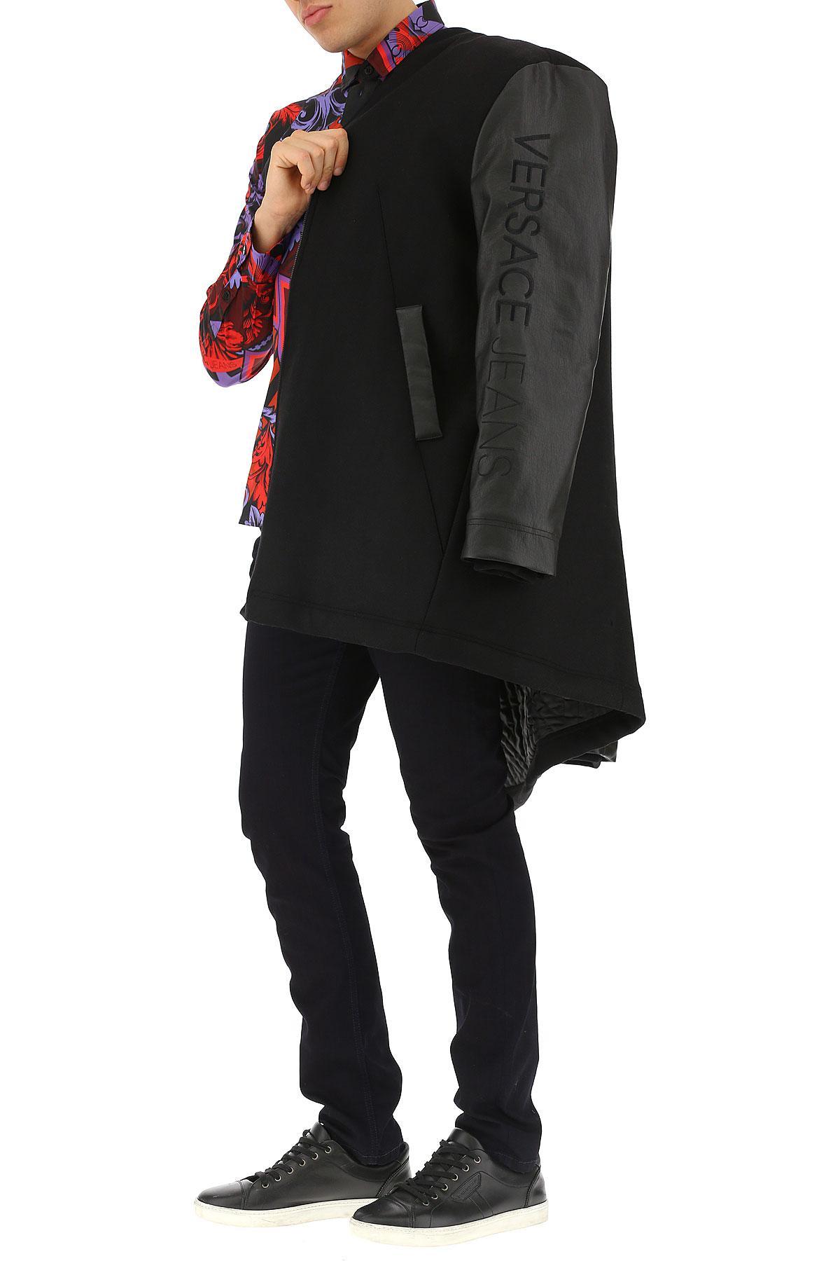 Coloris Manteau En Versace Pour Homme Synthétique Noir wOP0nk