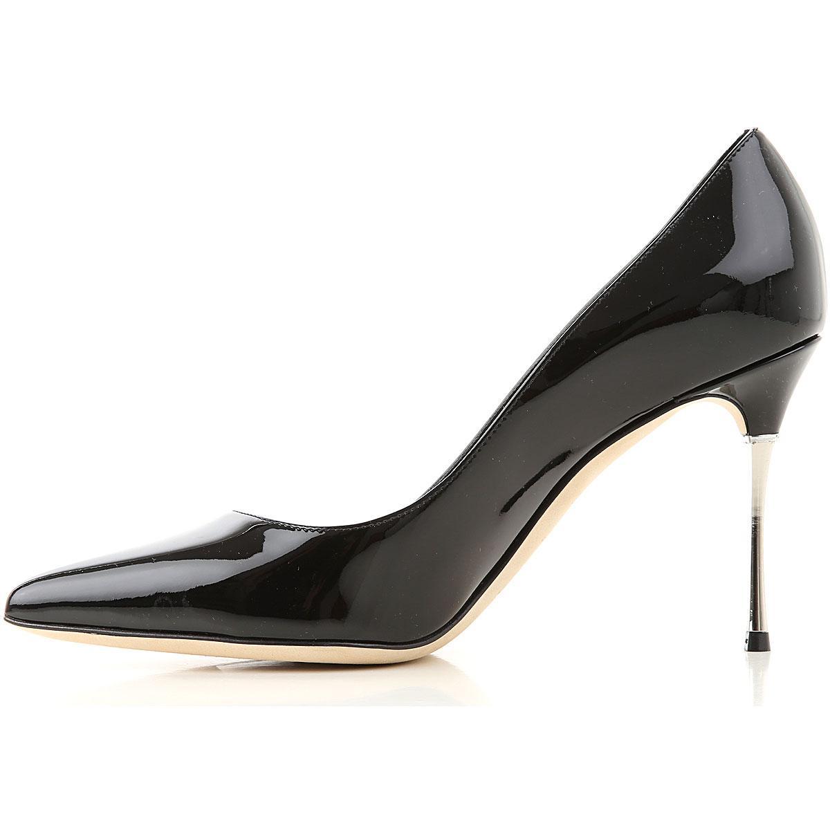 Zapatos de Tacón de Salón Baratos en Rebajas Sergio Rossi de color Negro
