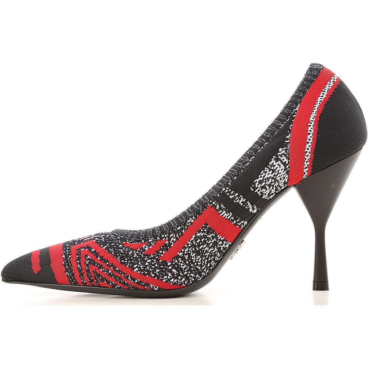 Zapatos de Tacón de Salón Baratos en Rebajas Outlet Prada de color Negro