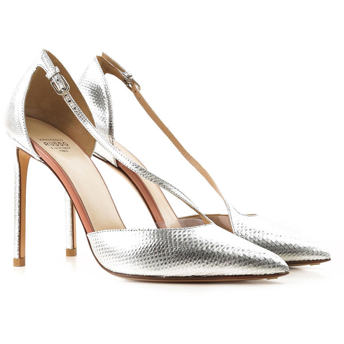 3b66c9d4371 Lyst - Francesco Russo Pumps   High Heels For Women On Sale in Metallic
