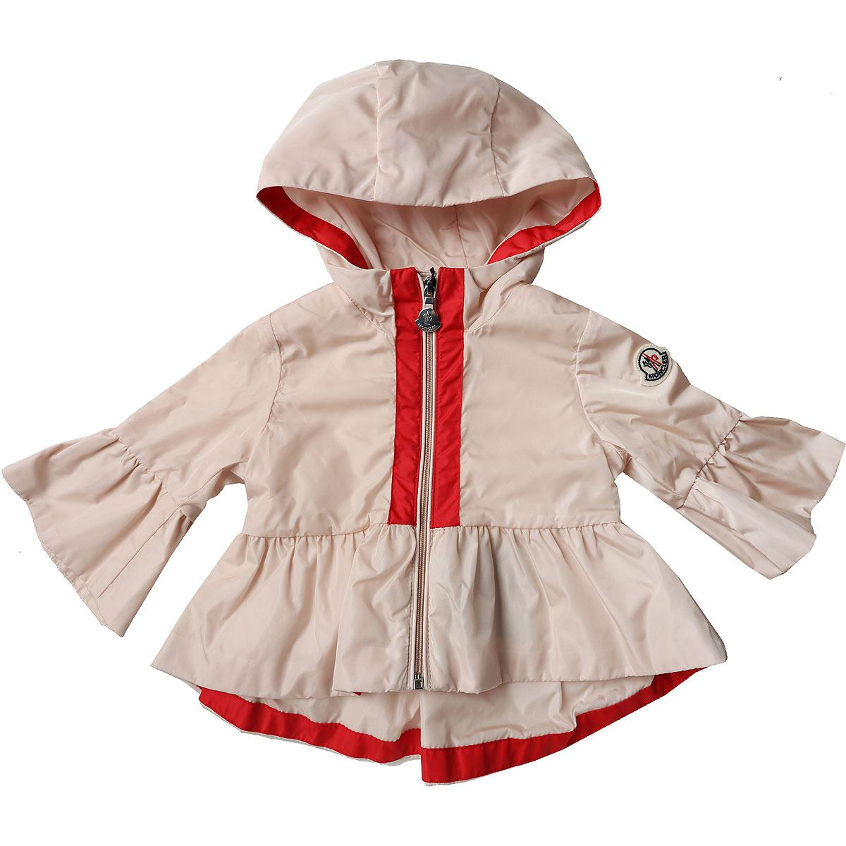 7578bbda9 Lyst - Moncler Baby Jacket For Girls On Sale in Pink