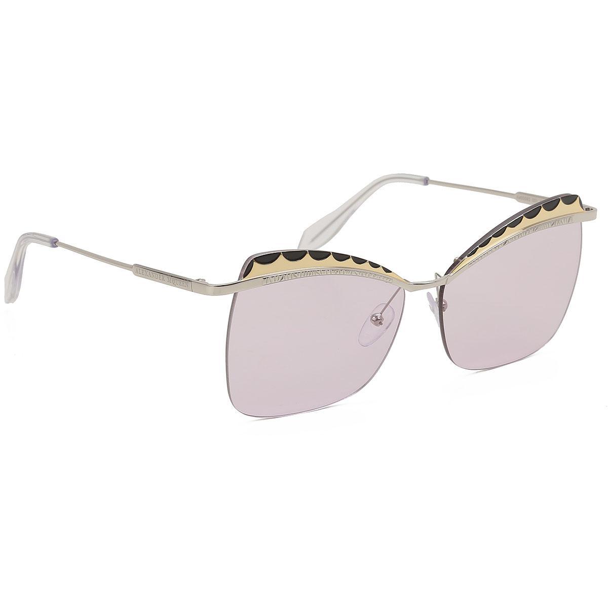 0d7e3c96f0 Alexander McQueen. Gafas y Lentes de Sol Baratos en Rebajas de mujer de color  metálico