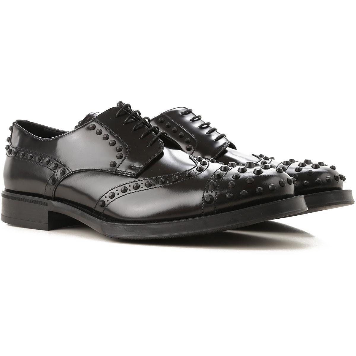 477e8d29d1 Lyst - Prada Lace Up Shoes For Men Oxfords in Black for Men