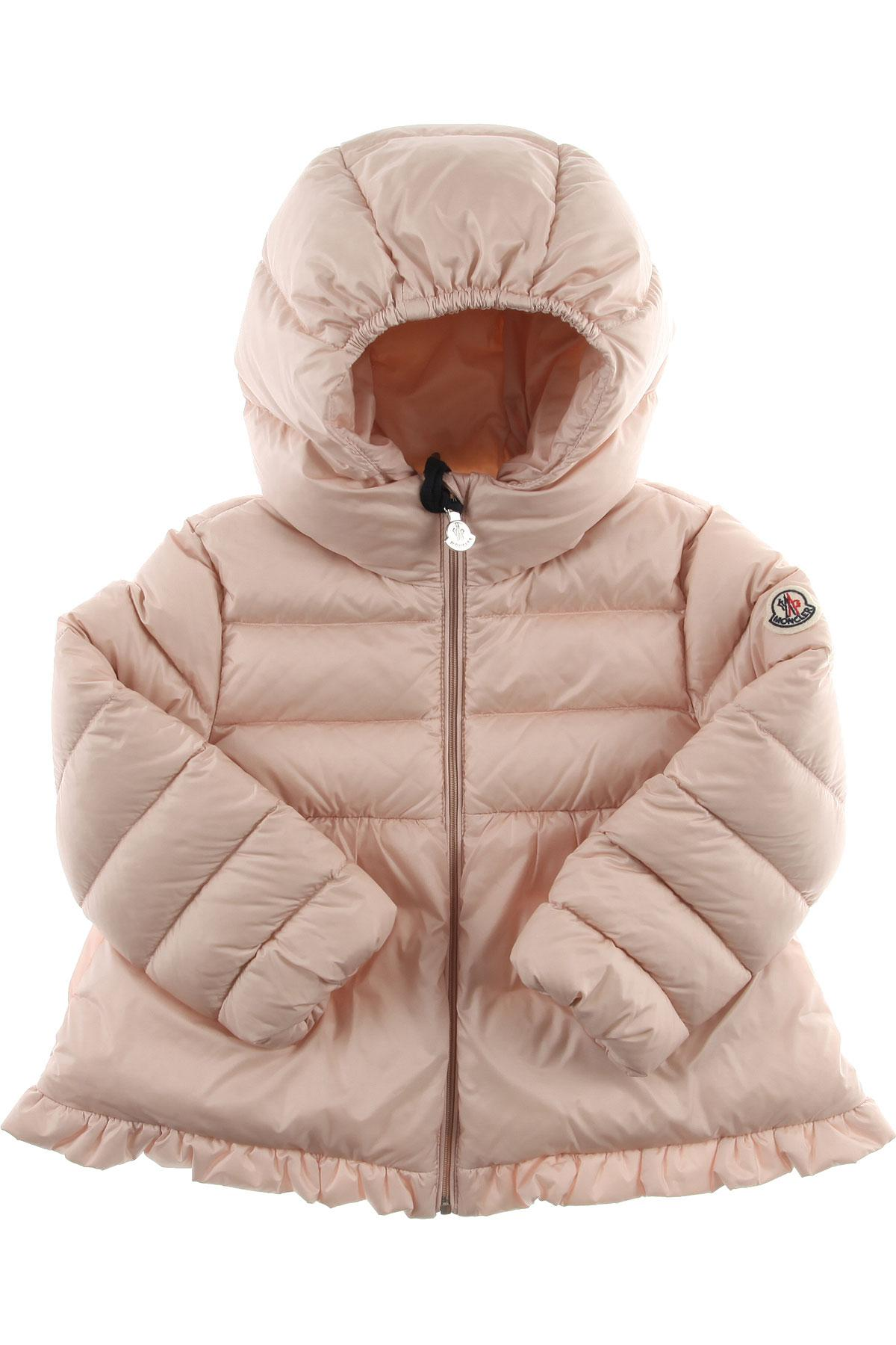 610612d64 Lyst - Moncler Baby Down Jacket For Girls On Sale in Pink