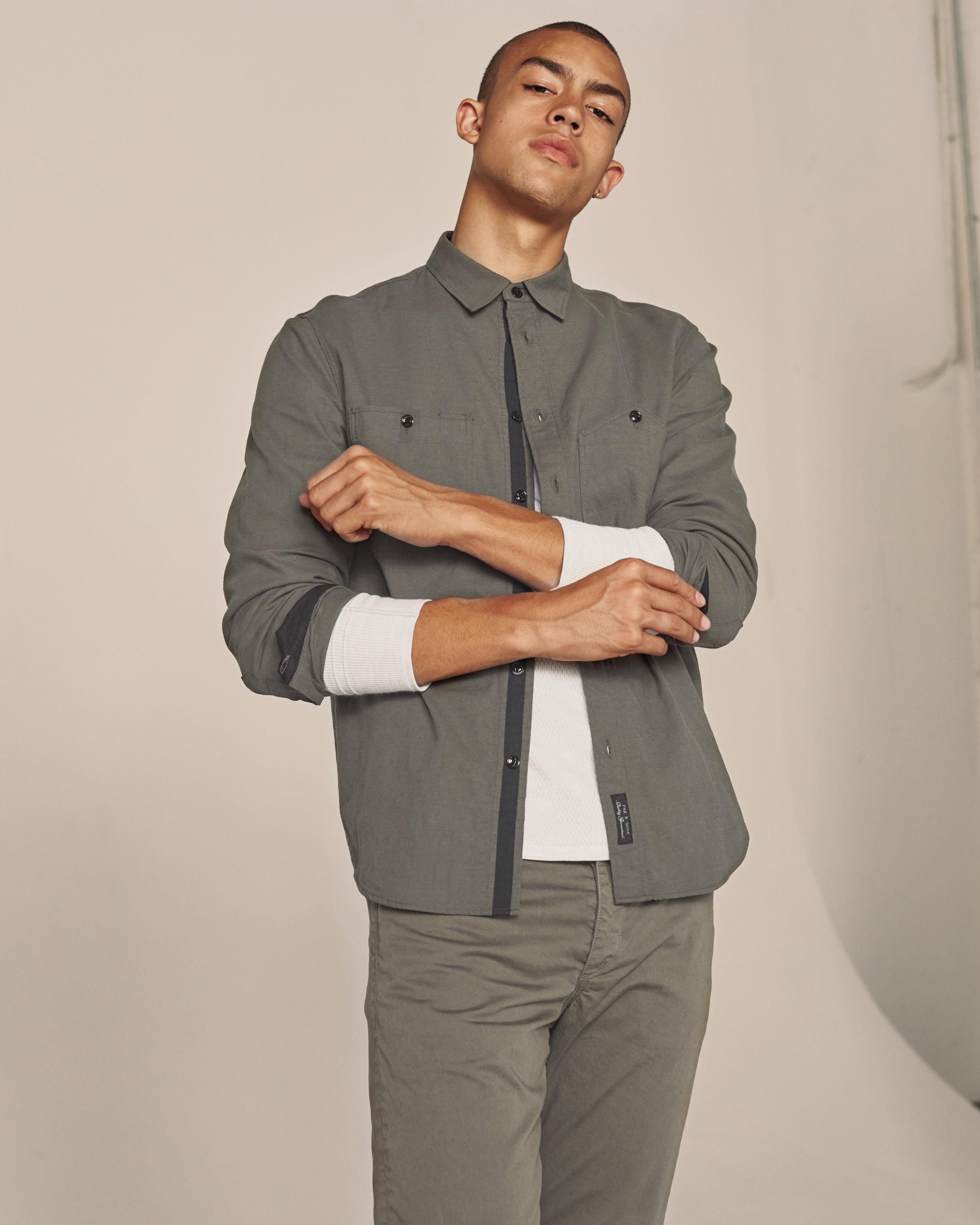Rag & Bone Cotton Thomsen Shirt in Grey Moss (Grey) for Men