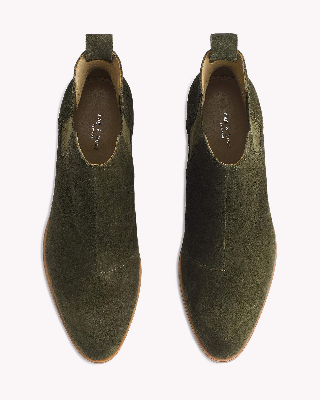 Rag & Bone Suede 'walker' Bootie in Olive Suede (Green)