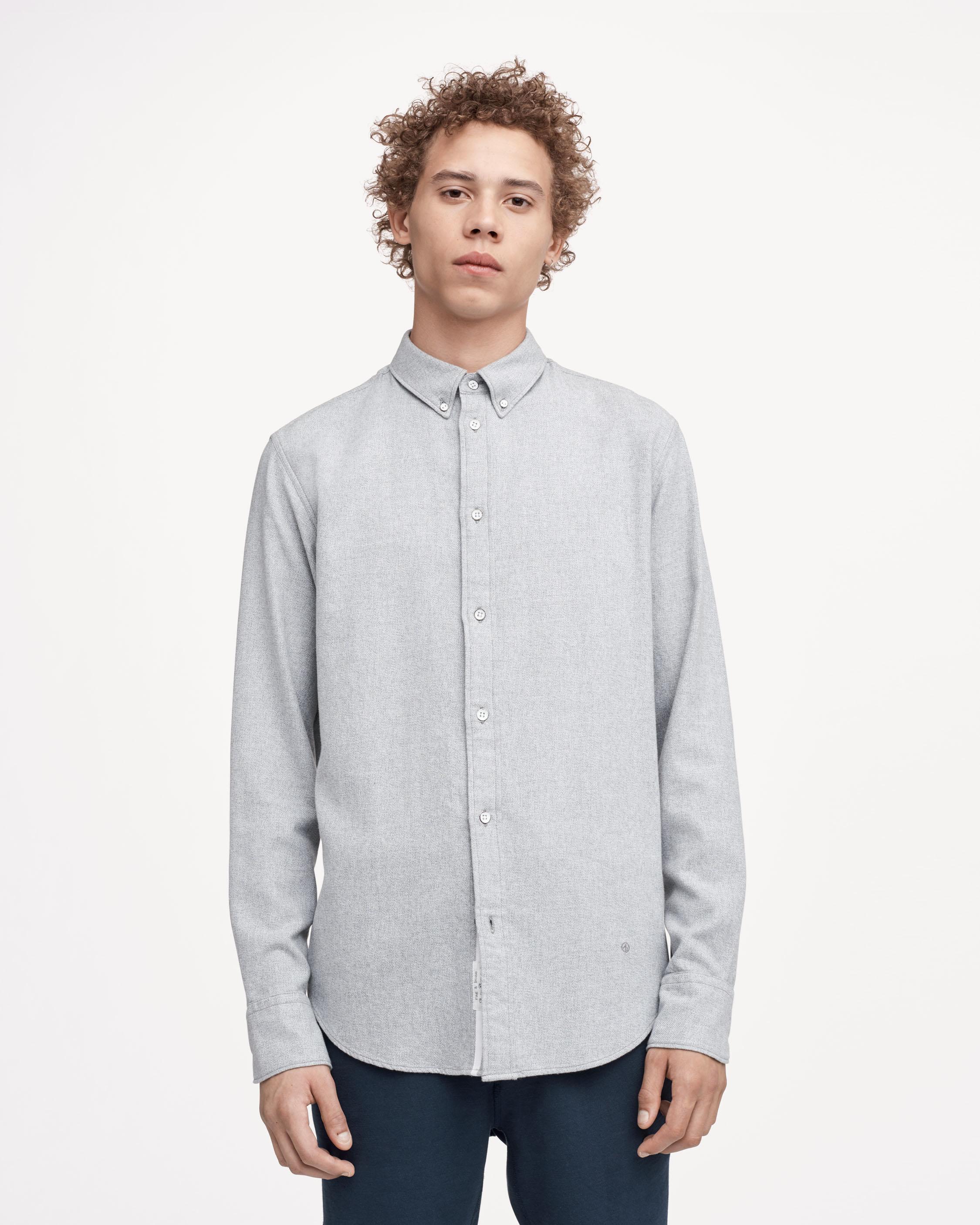 Rag bone fit 2 tomlin shirt in grey for men lyst for Rag and bone mens shirts sale