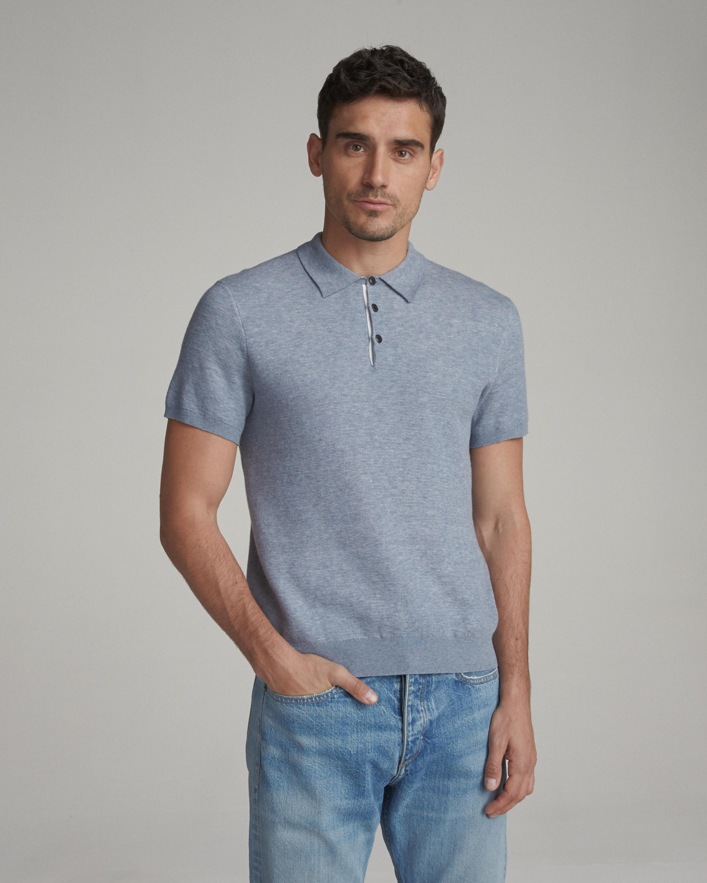 Lyst - Rag   Bone Tripp Polo in Blue for Men 7d495e462e3