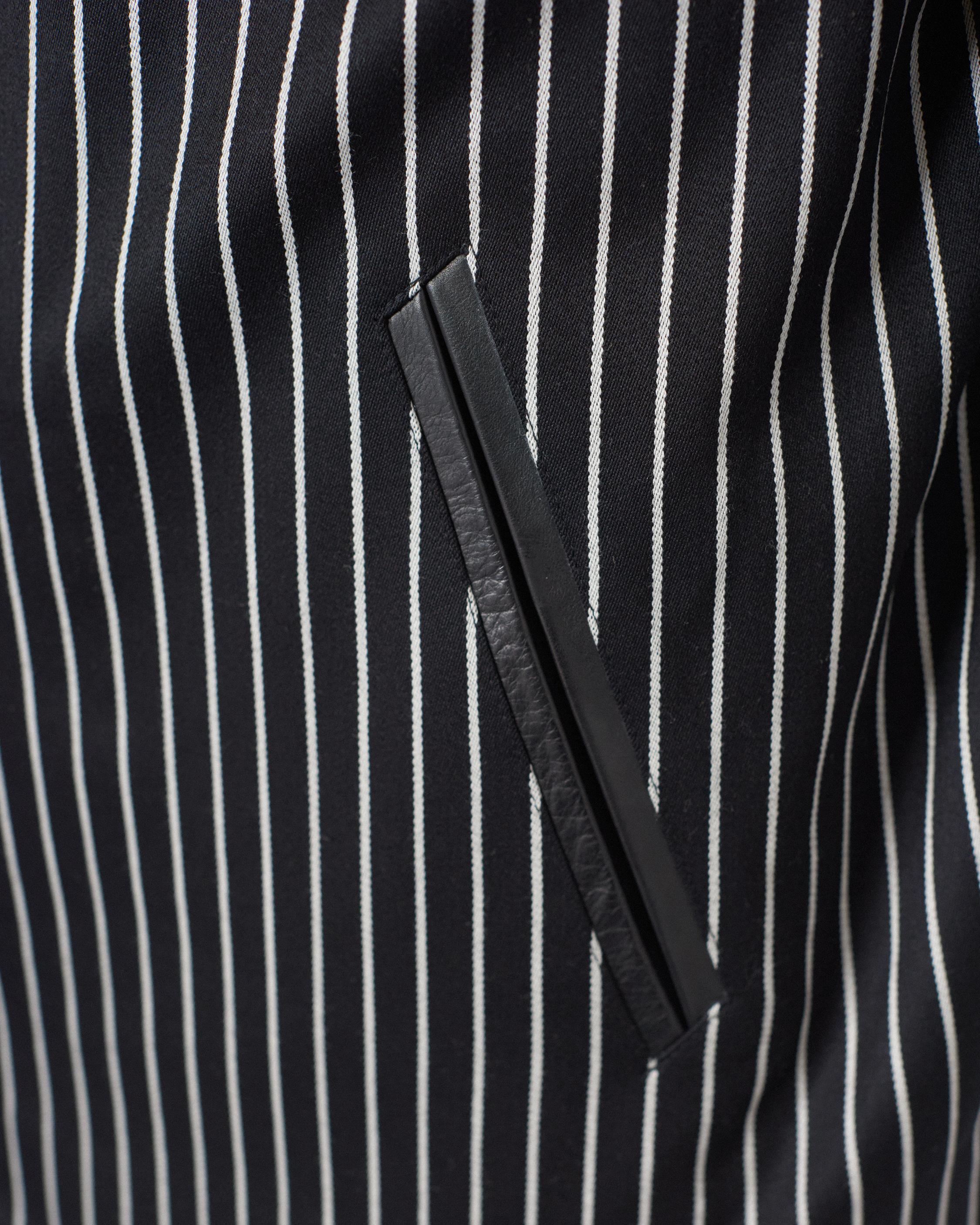 Rag & Bone Leather Irving Jacket in Black/White (Black) for Men