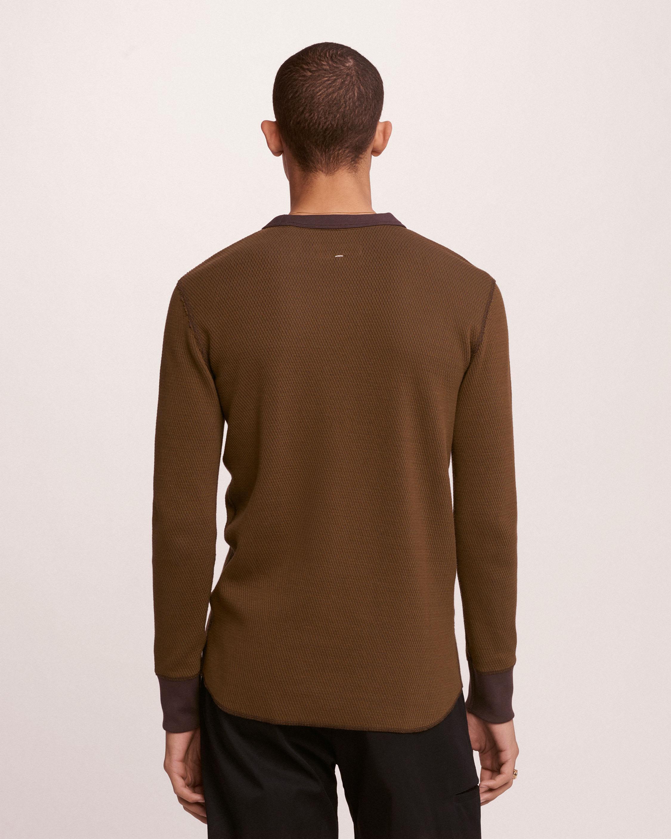 Rag & Bone Cotton Combat Thermal in Dark Olive/Black Olive (Brown) for Men