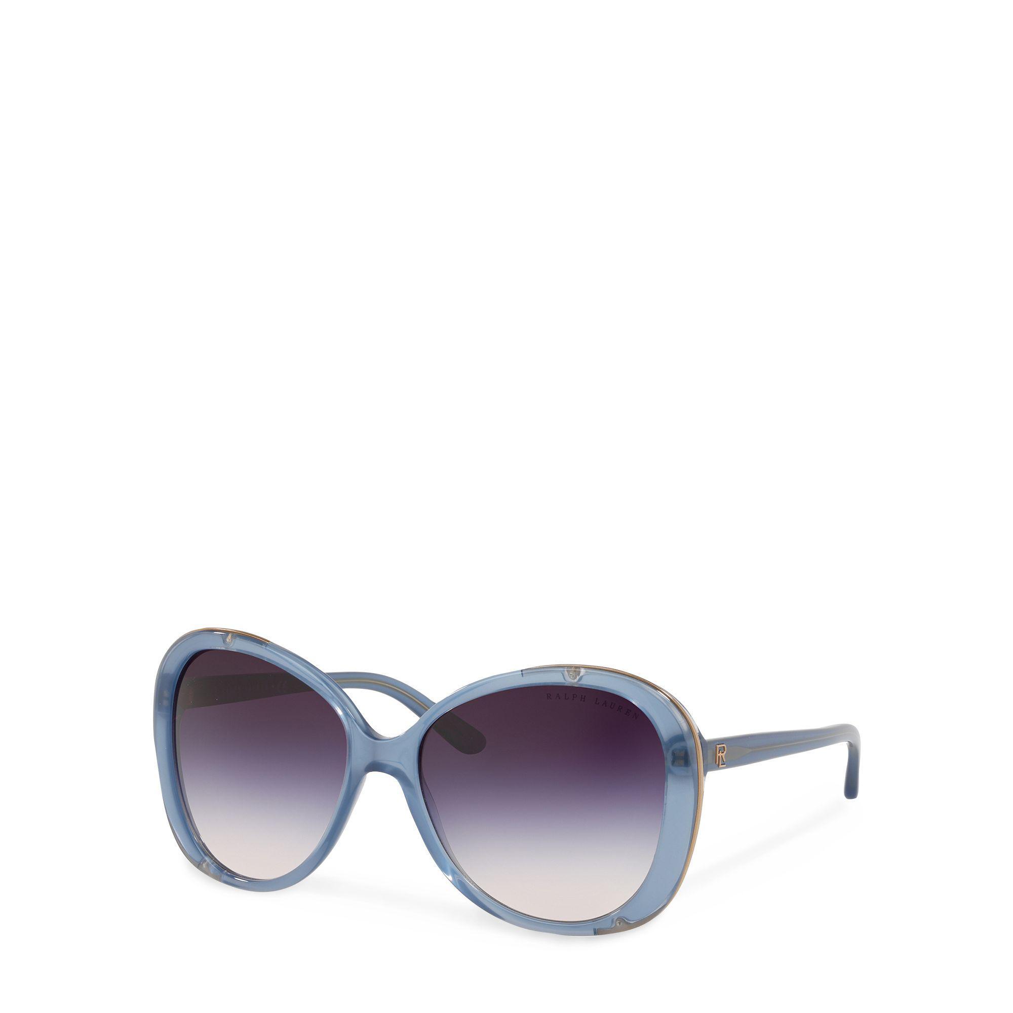 ebb8e5cc6bb Ralph Lauren - Blue Butterfly Sunglasses - Lyst. View fullscreen