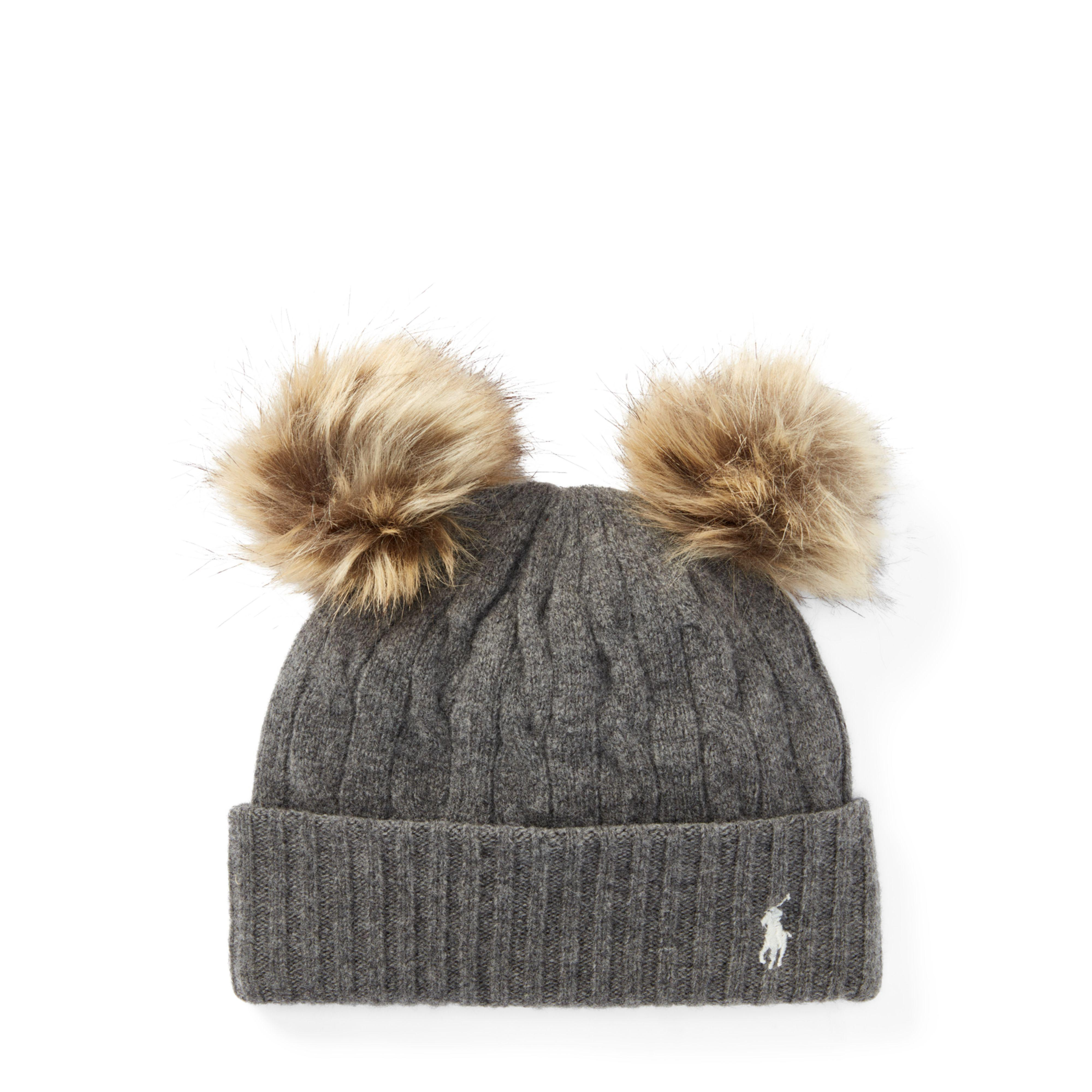 c82020fd8c6 Lyst - Polo Ralph Lauren Double-pom-pom Wool Hat