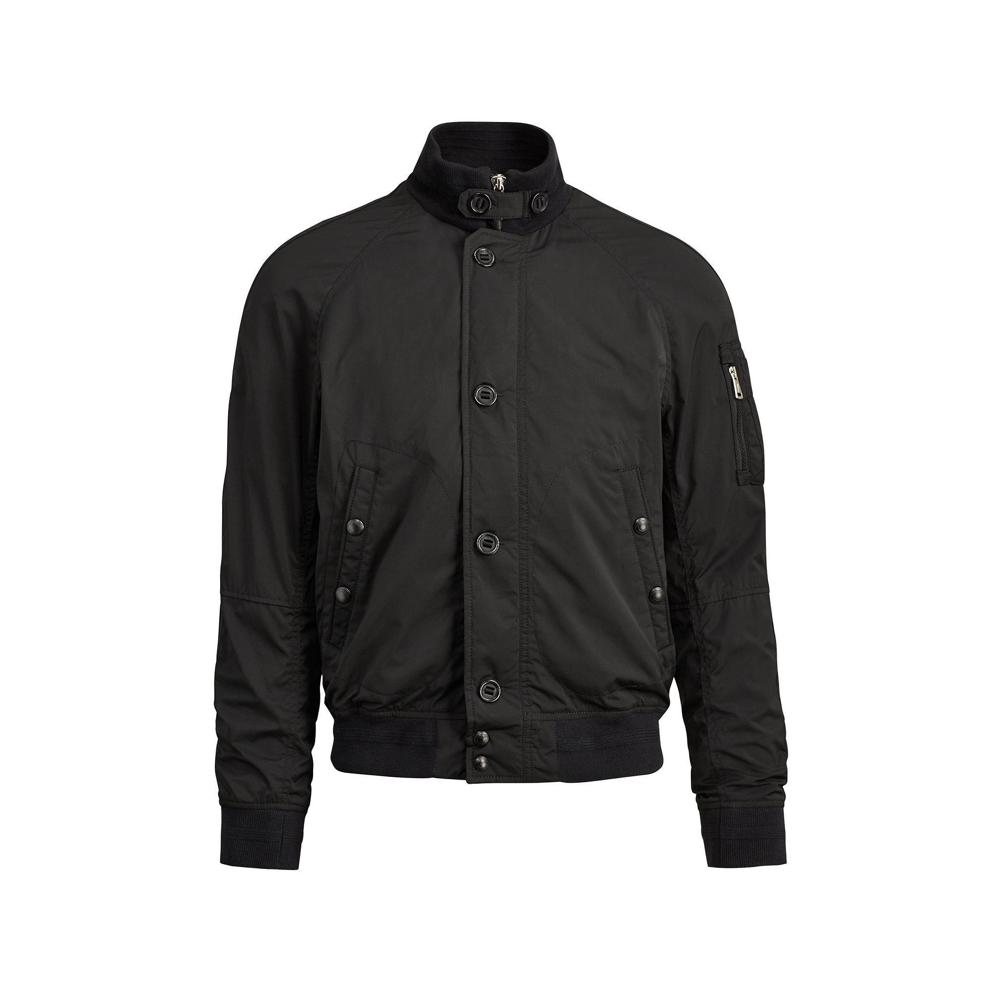 polo ralph lauren lightweight bomber jacket in black for. Black Bedroom Furniture Sets. Home Design Ideas