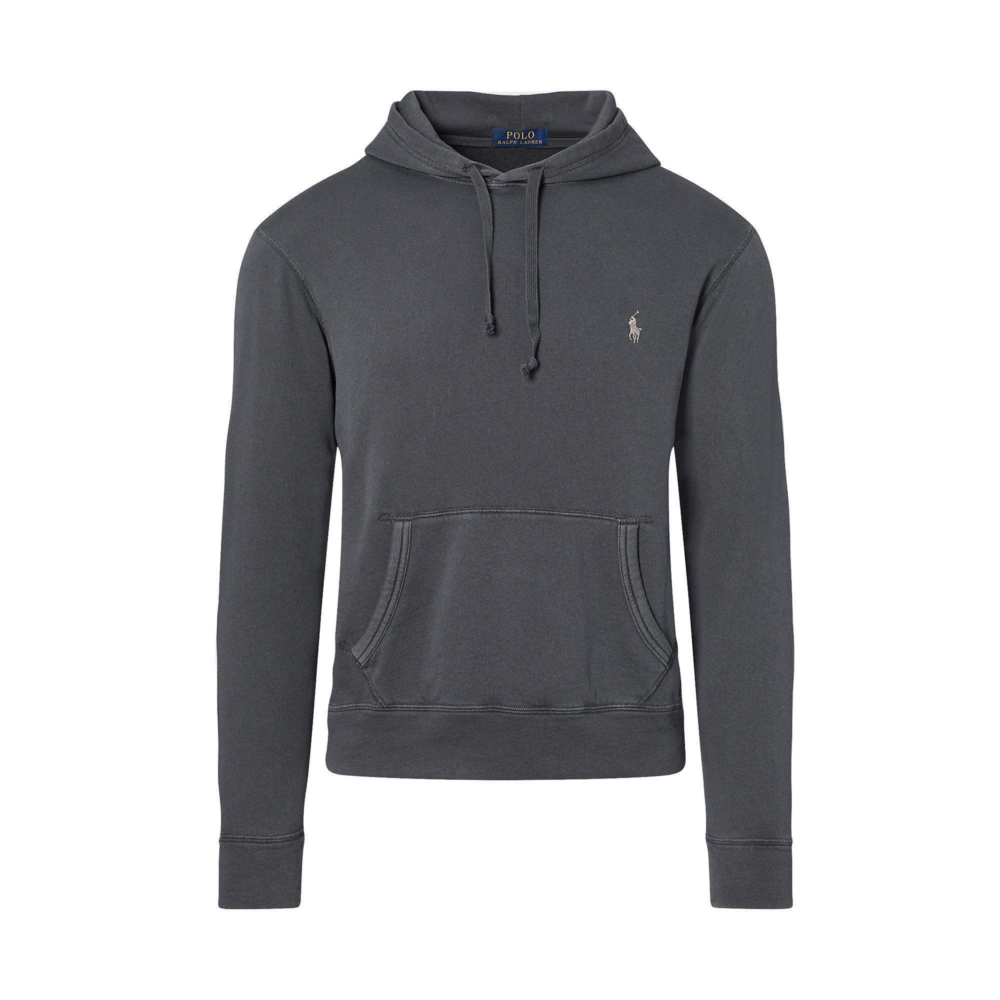 polo ralph lauren cotton spa terry hoodie in black for men lyst. Black Bedroom Furniture Sets. Home Design Ideas