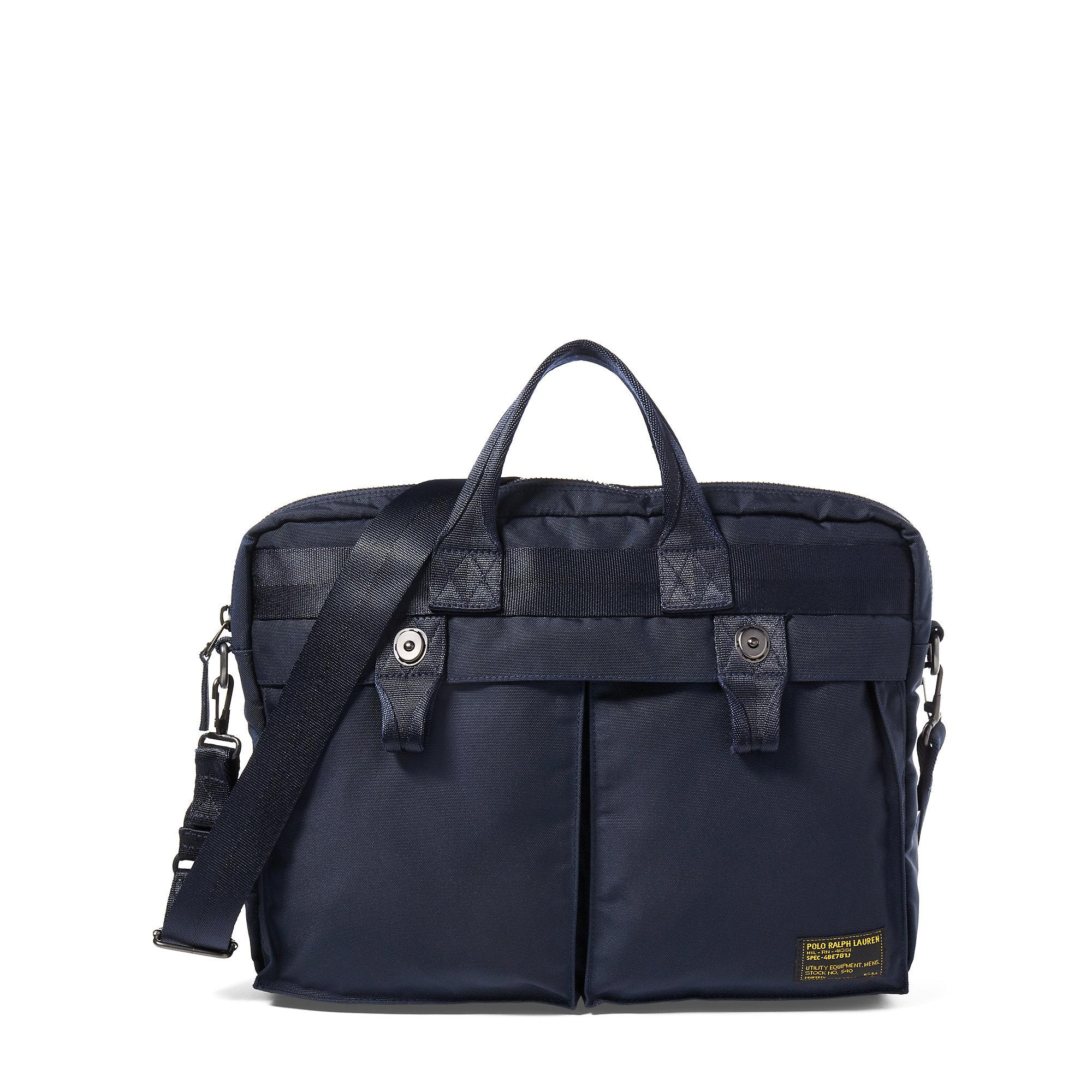 ad40f4c80b3f3b Lyst - Polo Ralph Lauren Nylon Military Briefcase in Blue for Men