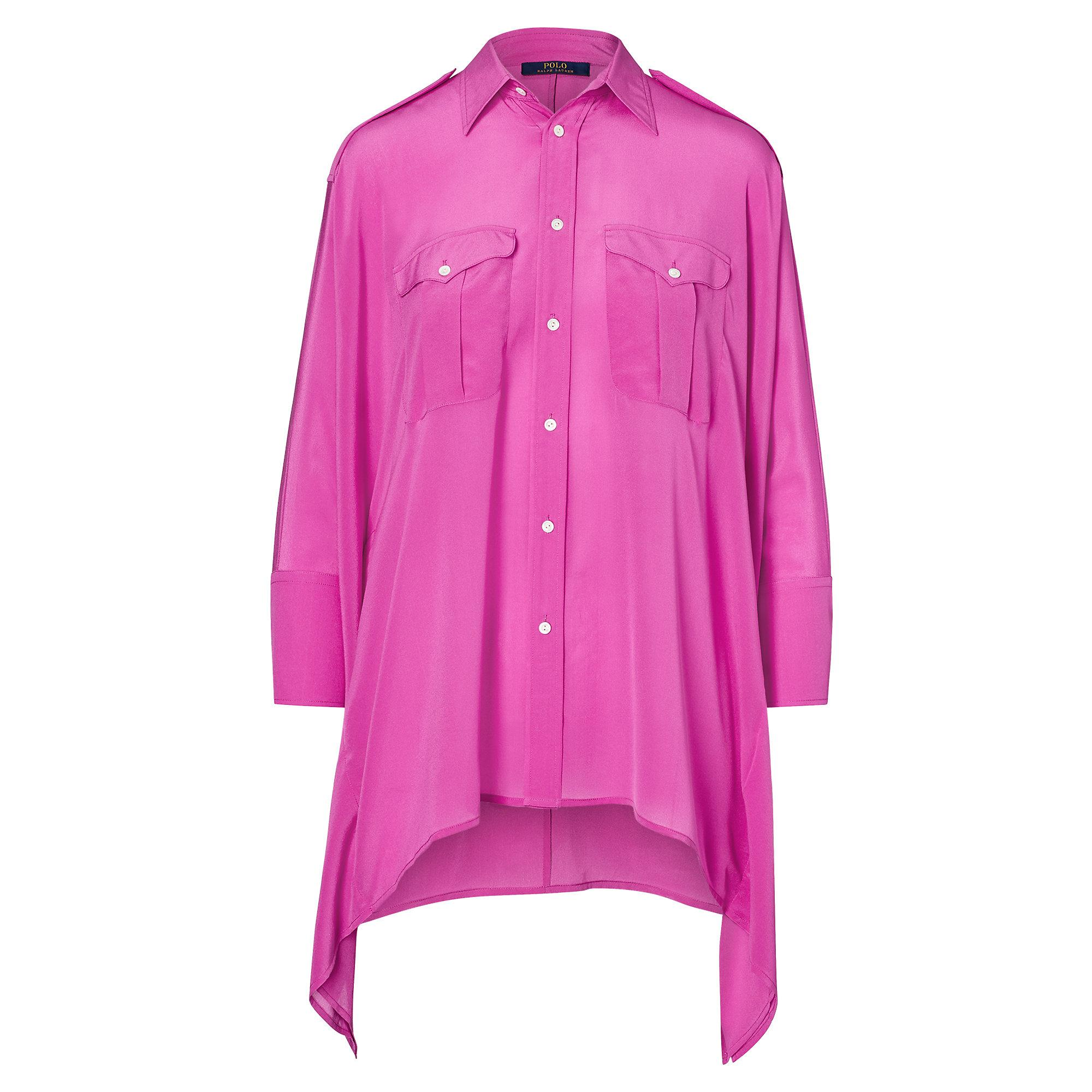 Polo Ralph Lauren Silk Poncho Shirt In Pink Lyst