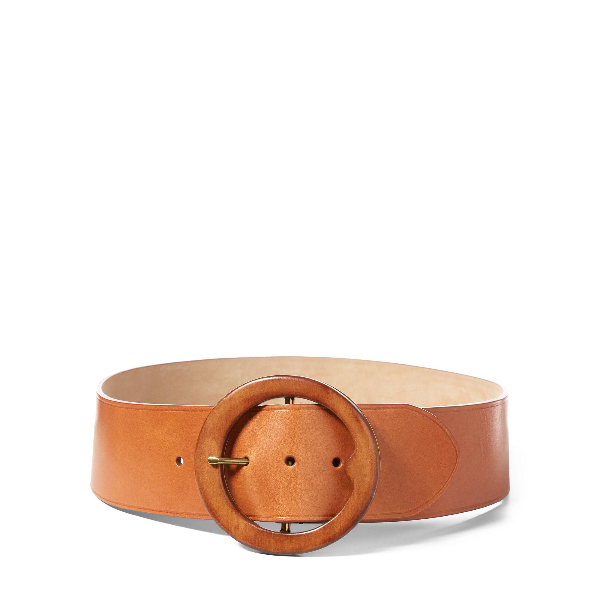 Polo Ralph Lauren Lennox Wood-buckle Belt in Brown - Lyst 43c4f0f0ad
