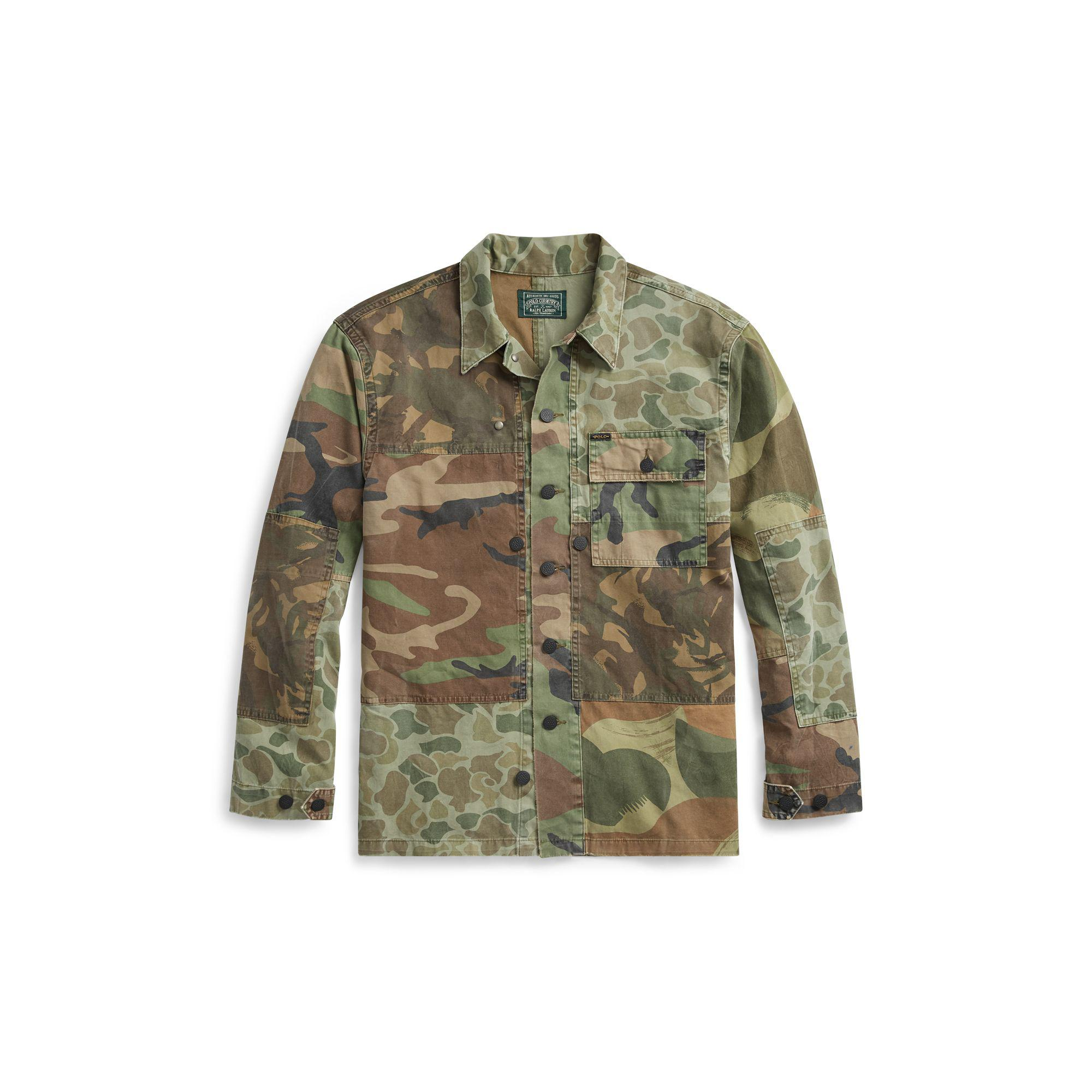 be3be770 Polo Ralph Lauren Classic Fit Camo Twill Shirt in Green for Men - Lyst