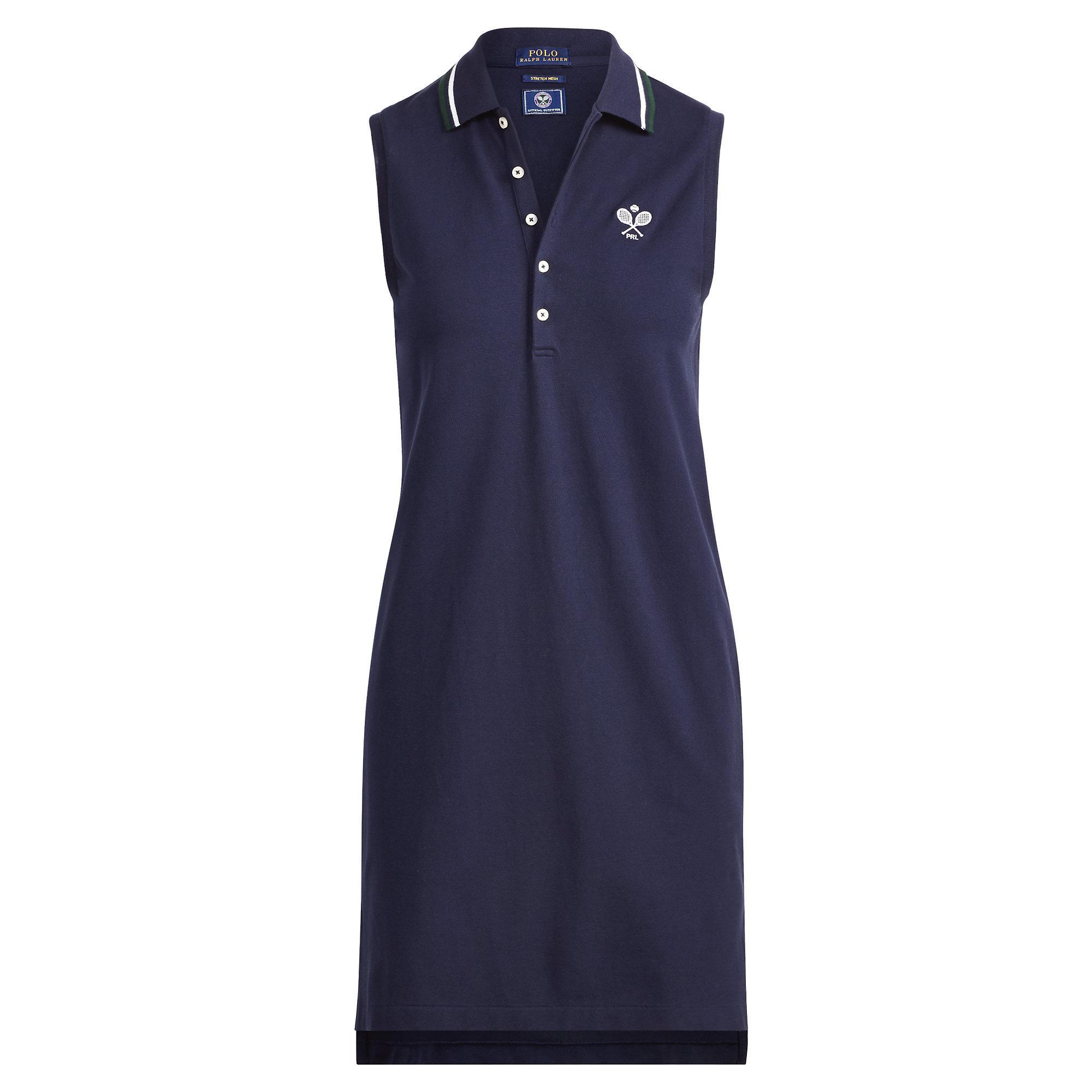 800c2e5b952f2 Lyst - Polo Ralph Lauren Wimbledon Mesh Polo Dress in Blue