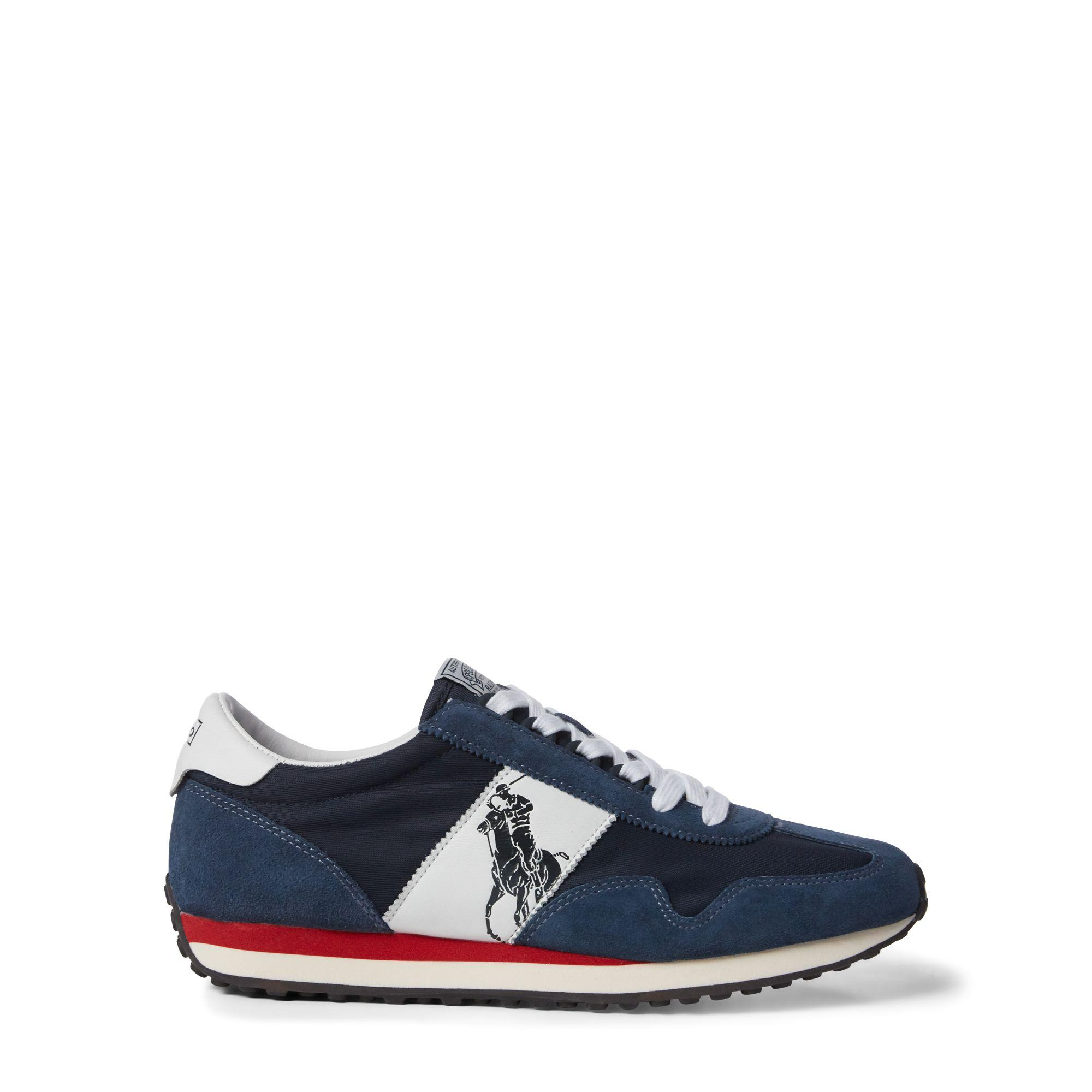 ae43669c44d9c Lyst - Polo Ralph Lauren Train 90 Pp Runner Style Trainers in Blue ...