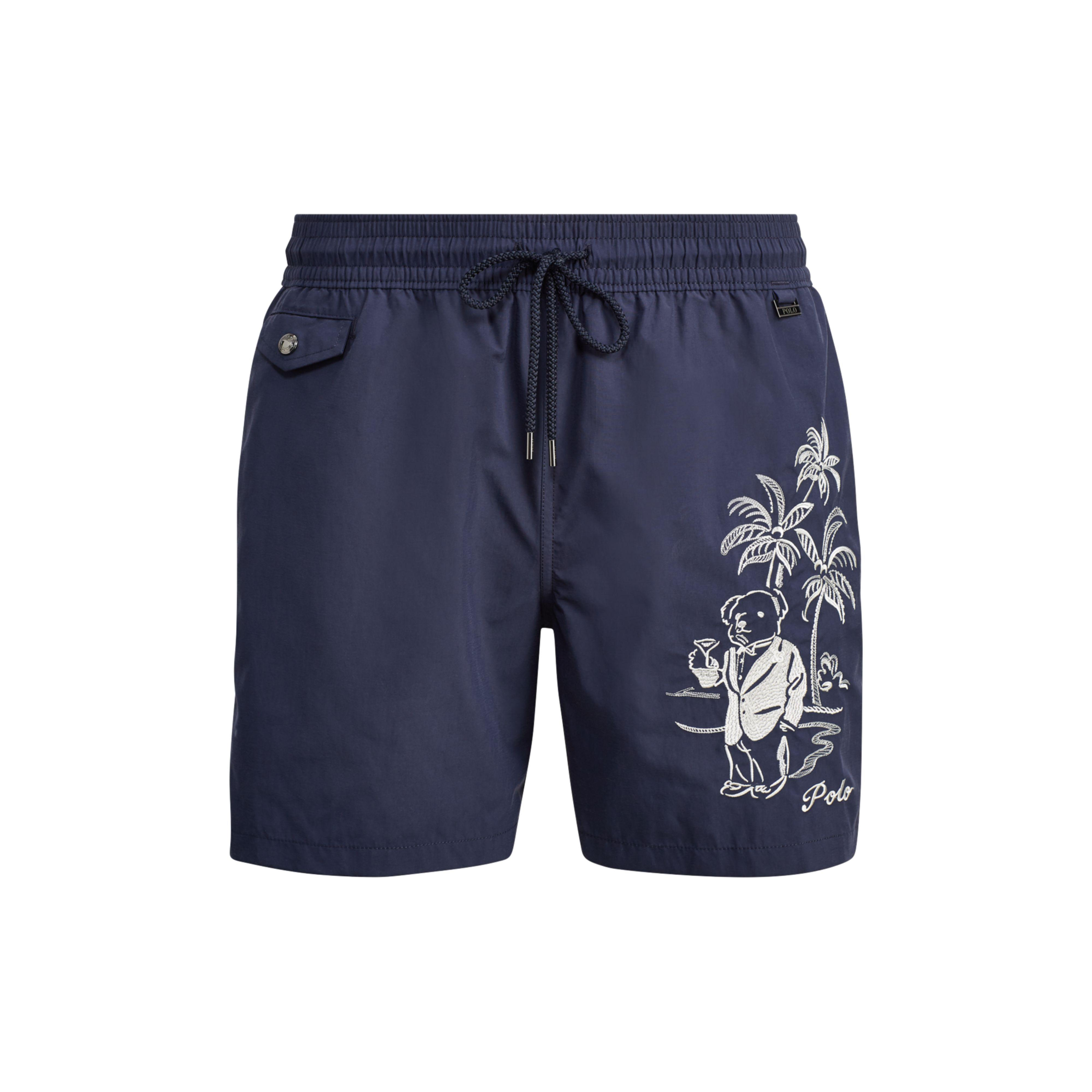 wholesale sales promo codes fresh styles Polo Ralph Lauren Synthetic 51⁄2-inch Polo Bear Swim Trunk in Blue ...