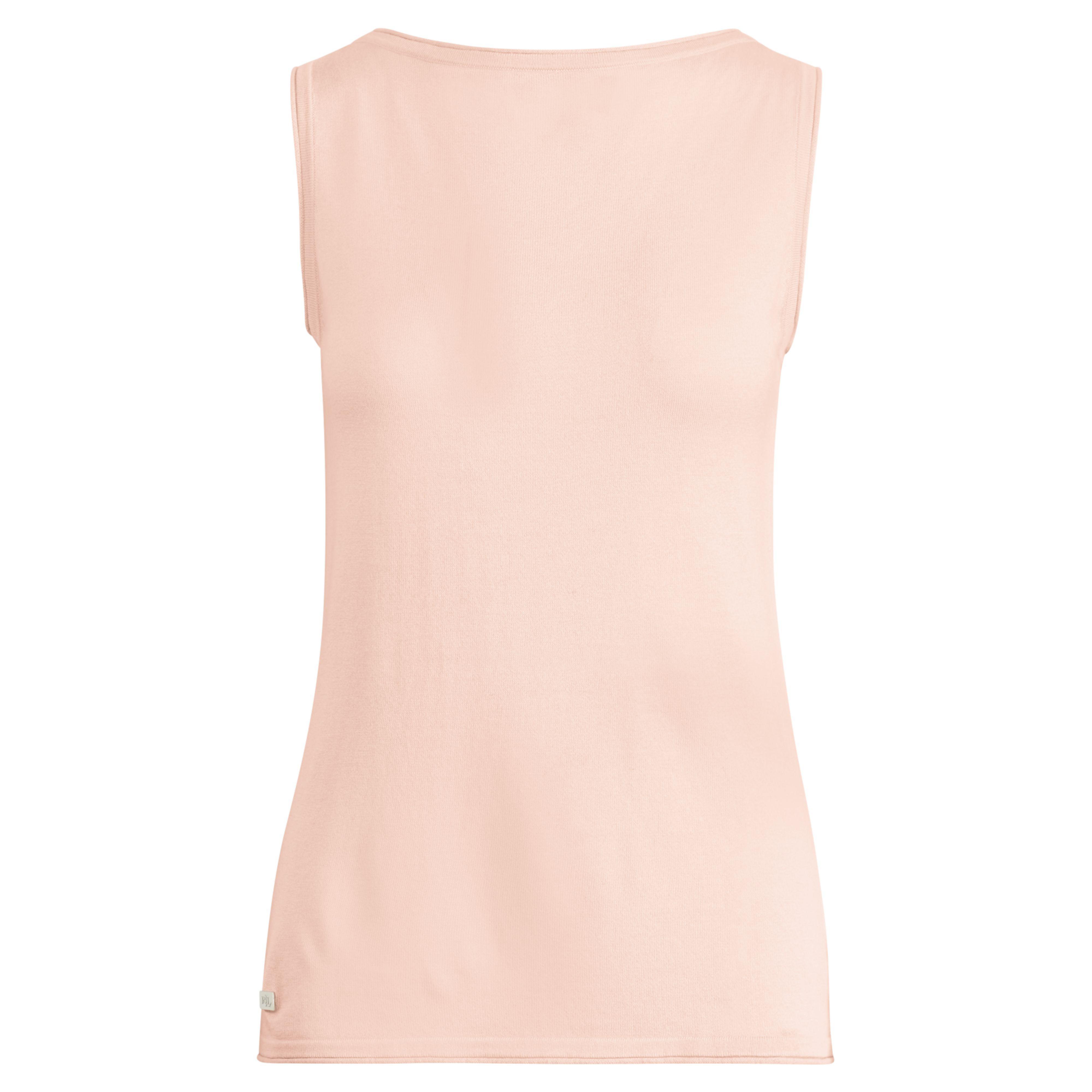 510c32ff7bd9cc Lyst - Ralph Lauren Knit Silk-blend Sleeveless Top in Pink
