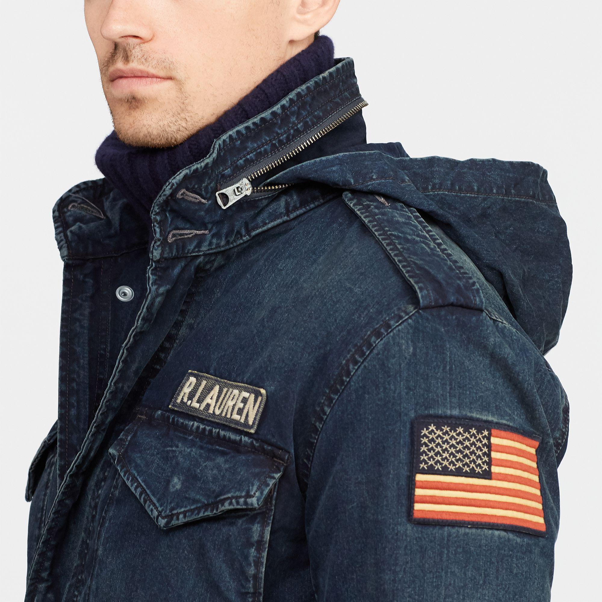 Field Ralph Polo Lauren Jacket Denim Men For Blue 8n0POXkNw