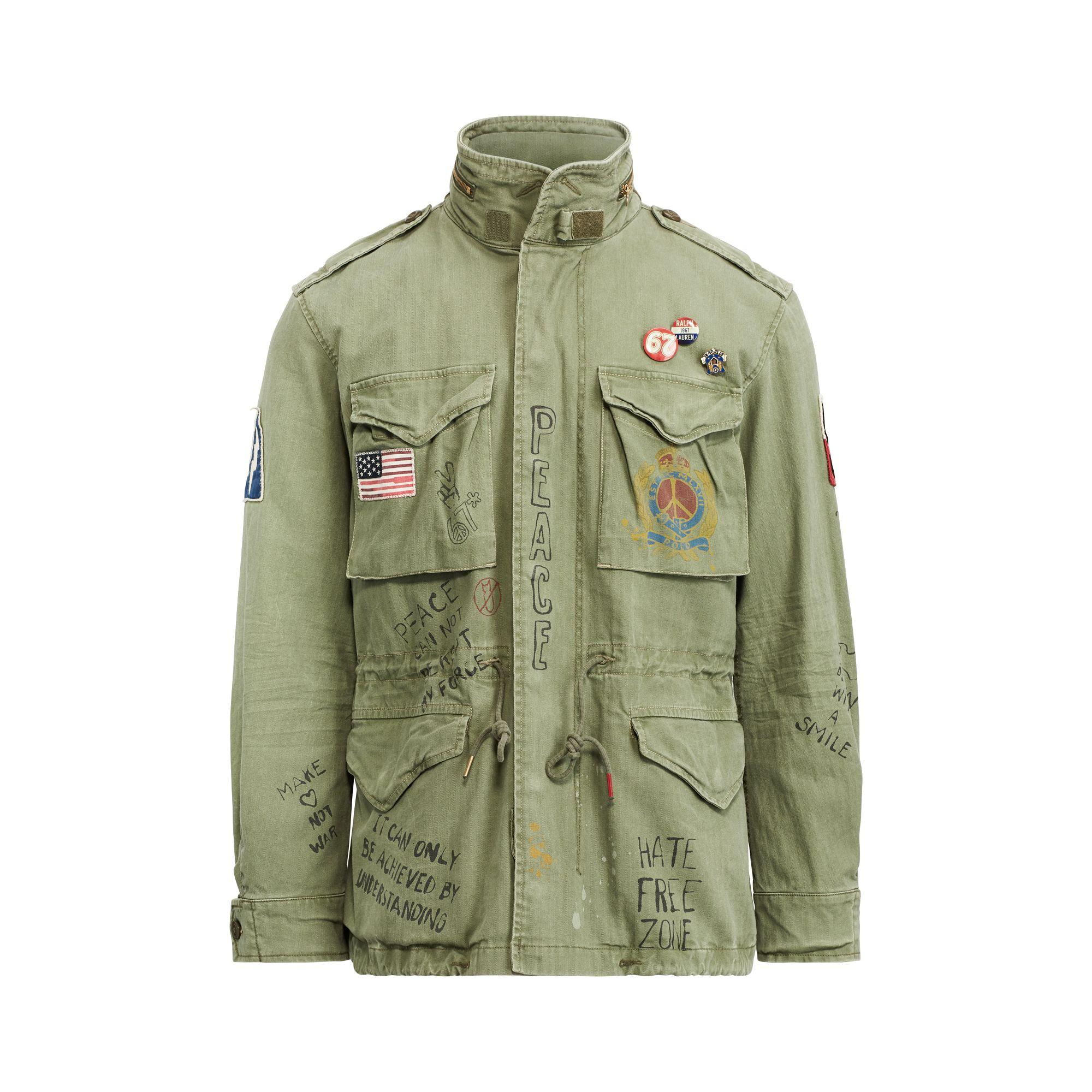427ed441e144b Polo Ralph Lauren Twill Graphic Field Jacket in Green for Men - Save ...