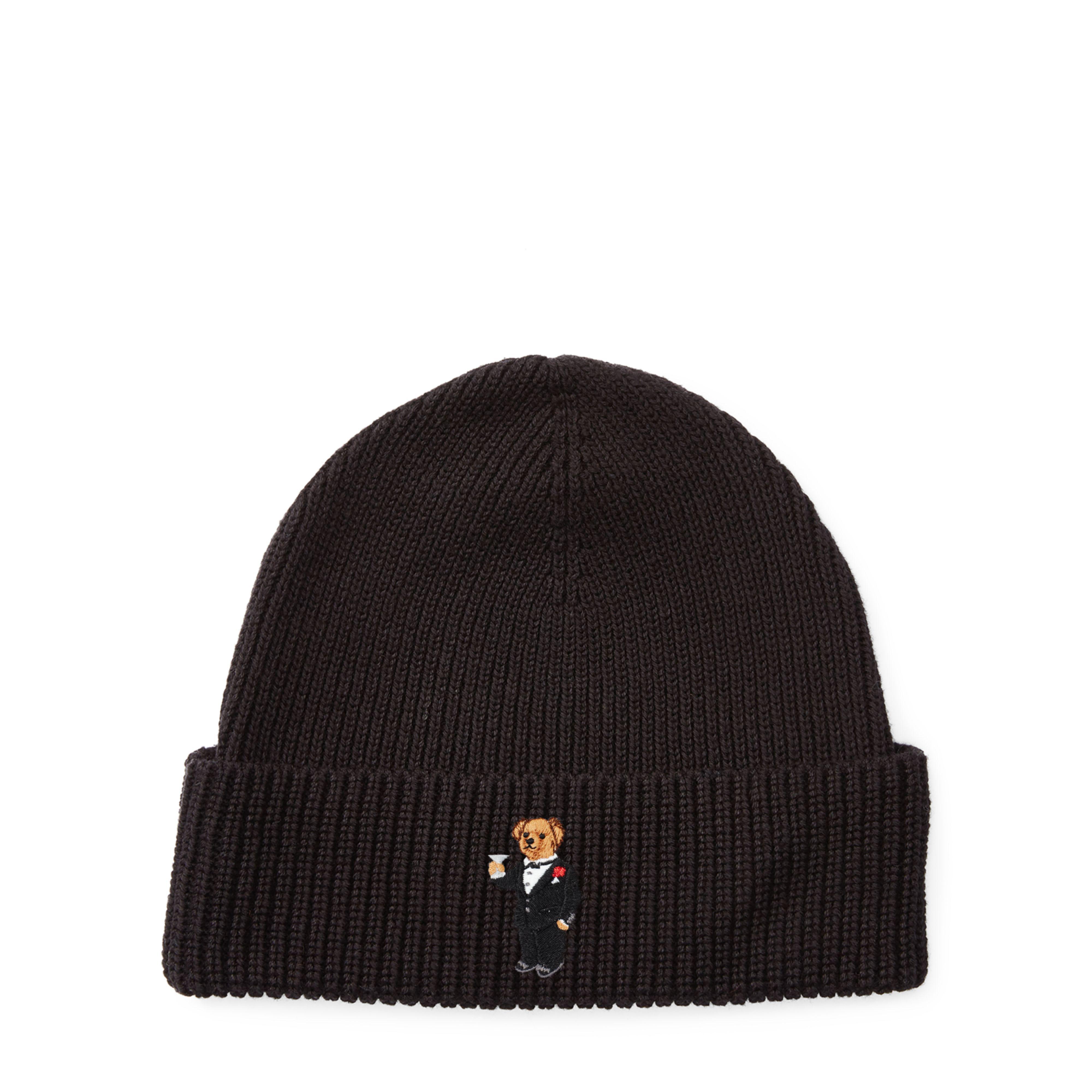 39162b25fa Polo Ralph Lauren Black Martini Polo Bear Ribbed Hat for men