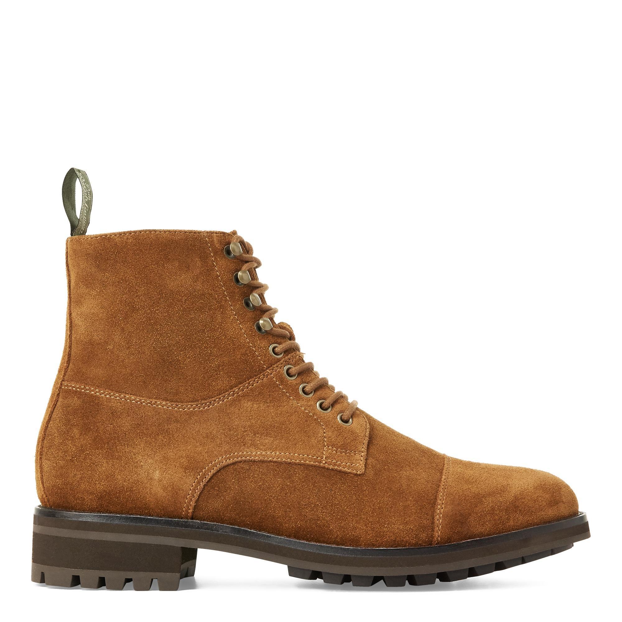 braune Veloursleder Stiefel von H&M