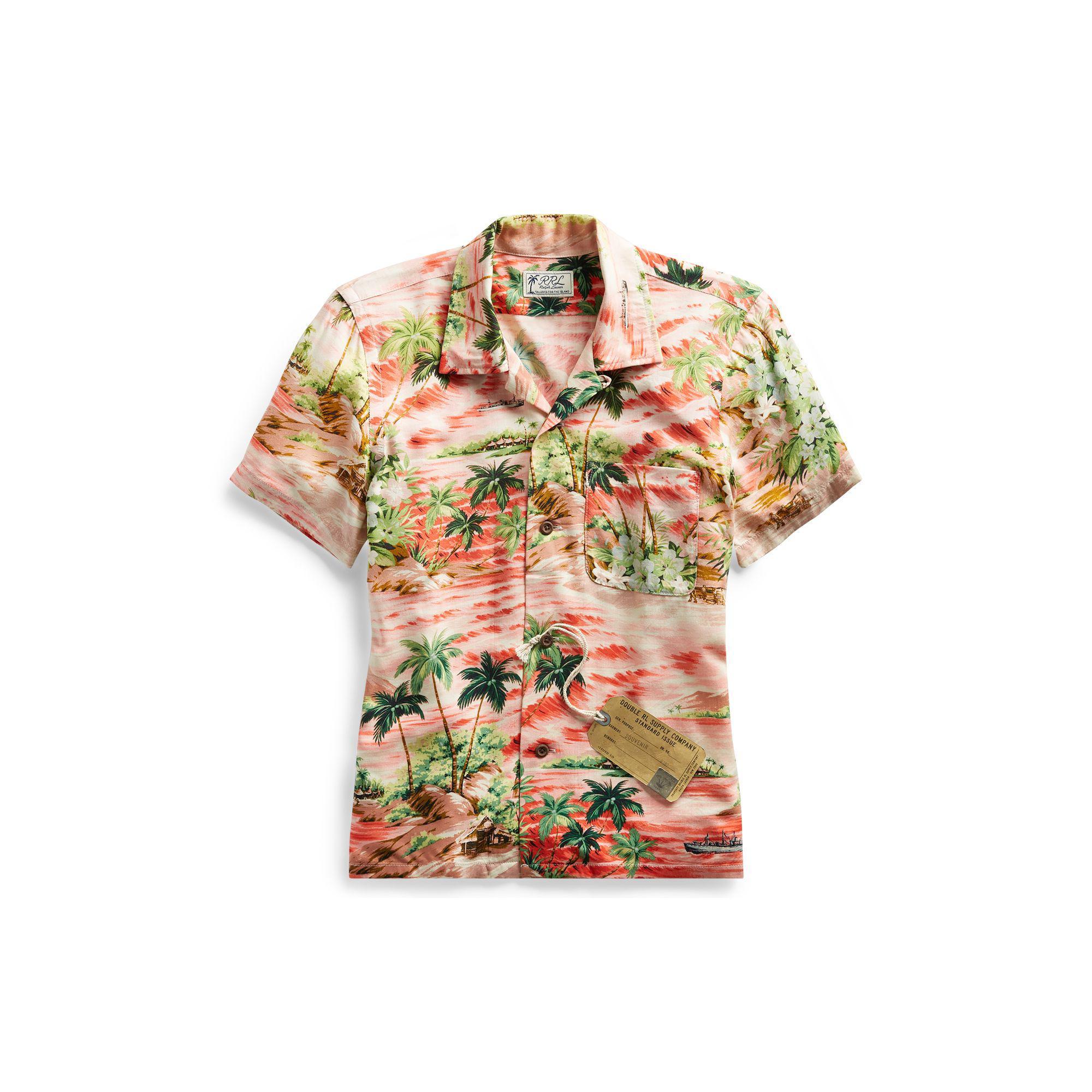 127f8f38 RRL Hawaiian-print Camp Shirt - Lyst