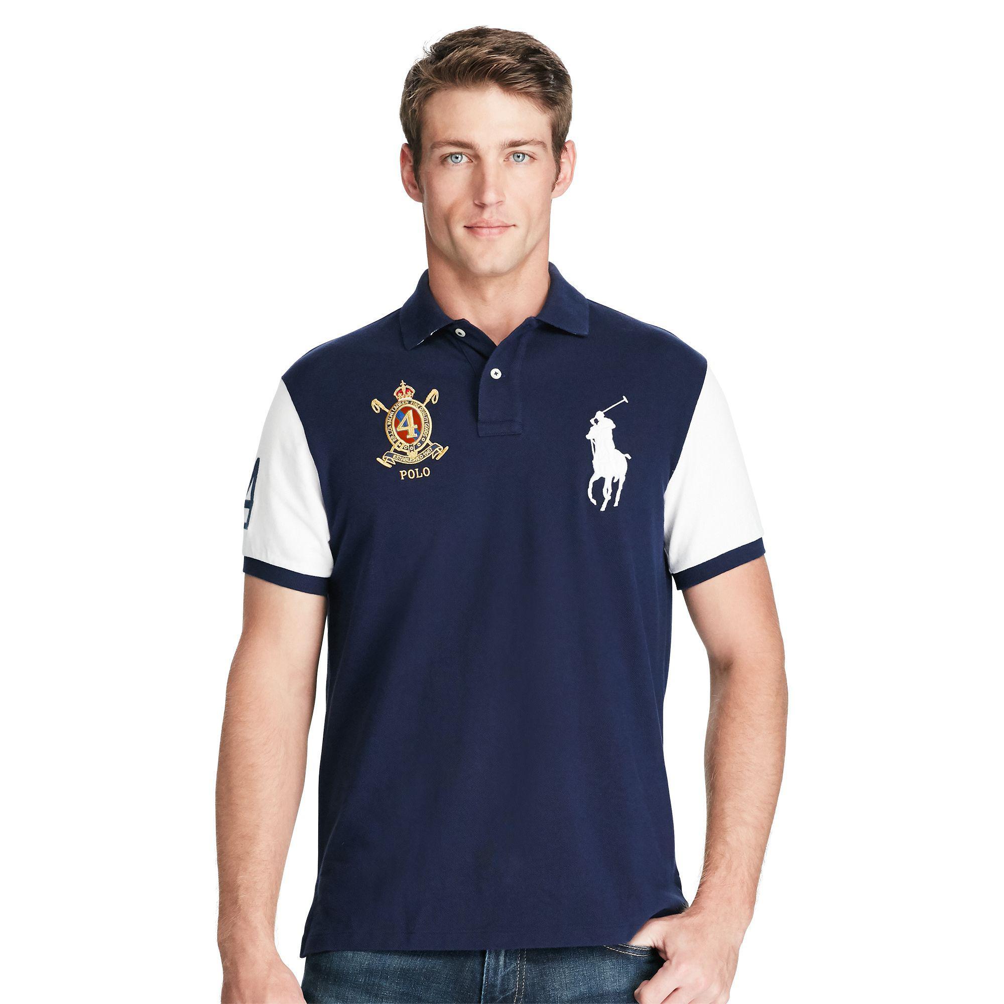 Promo Code For Ralph Lauren Mens Navy Blue Shirt 9a5d6 4f39a