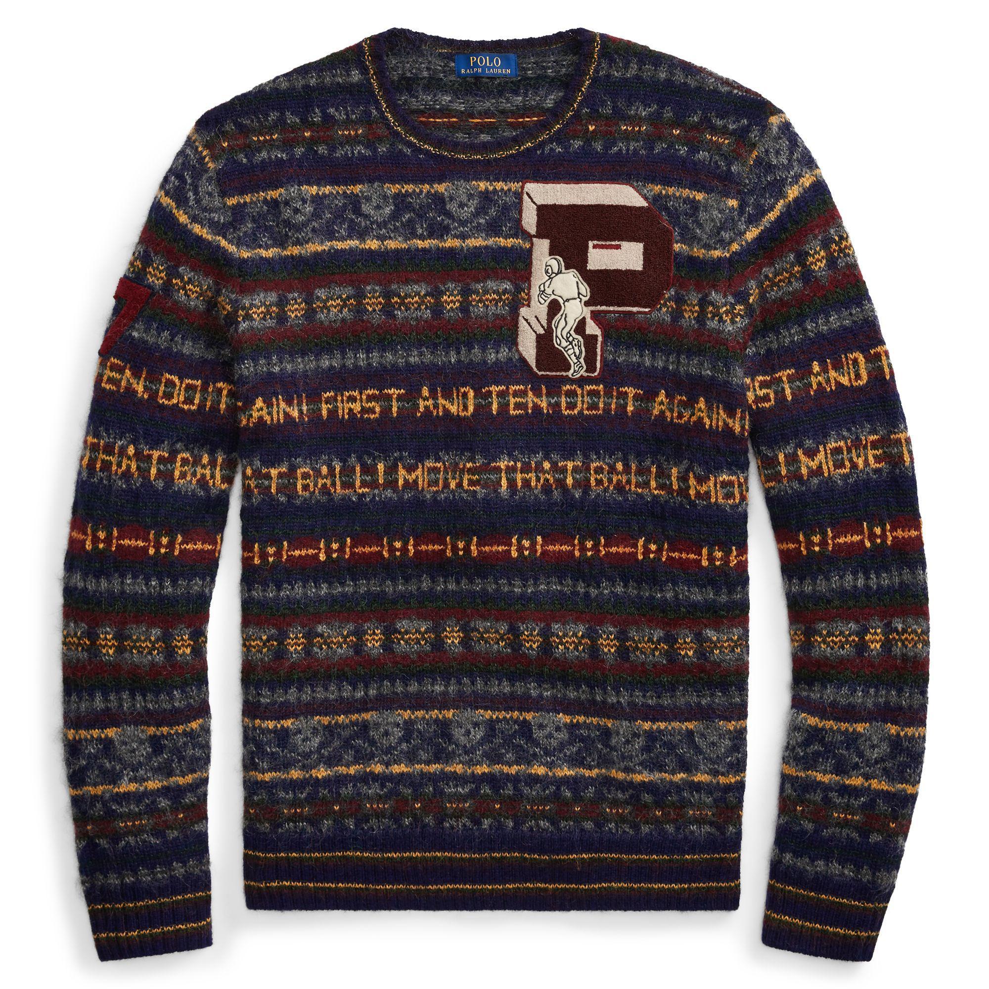 19230b588 ... spain polo ralph lauren blue fair isle wool blend sweater for men lyst.  view fullscreen ...