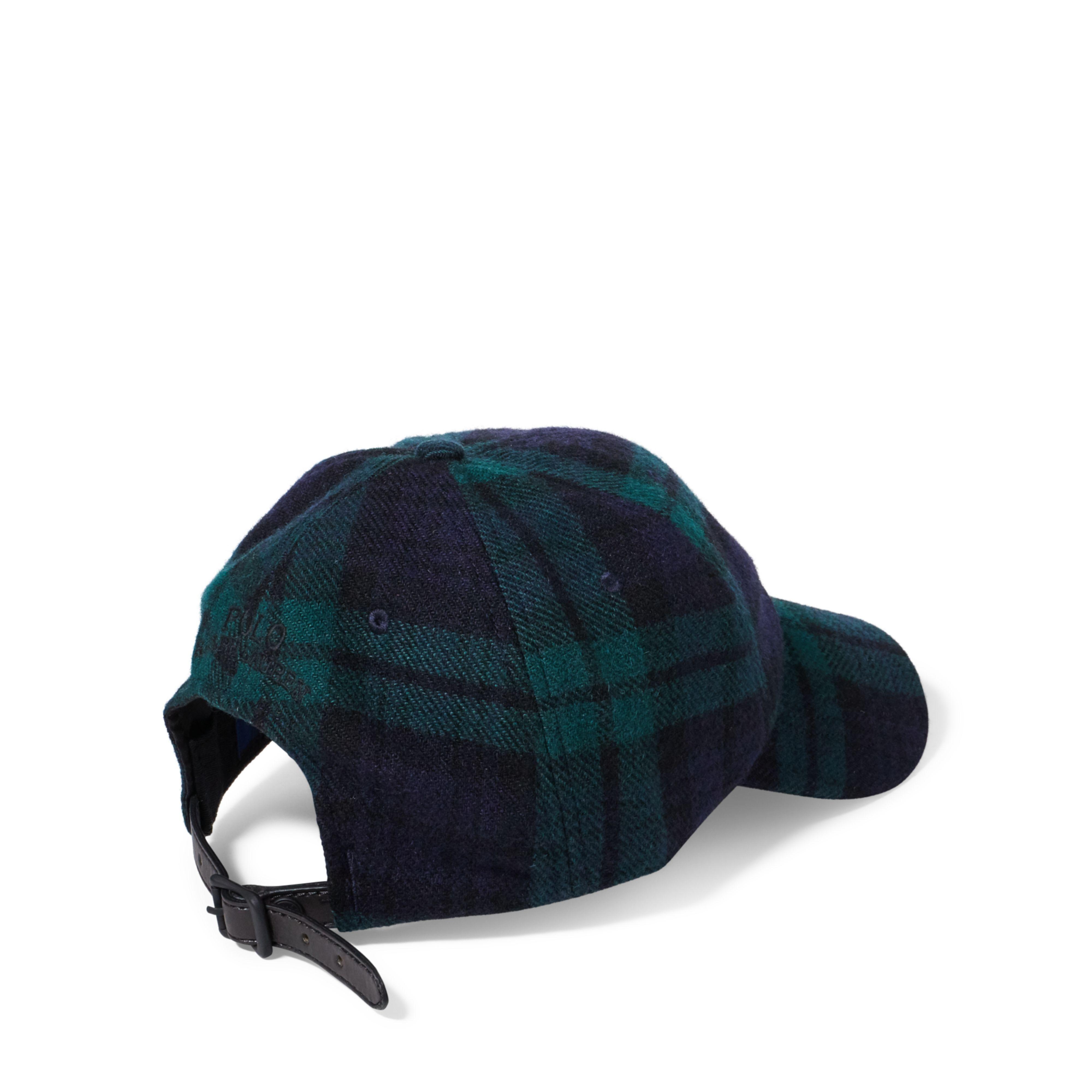 Lyst - Polo Ralph Lauren Tartan Wool-blend Fitted Cap in Blue for Men 8a3a7e9064151